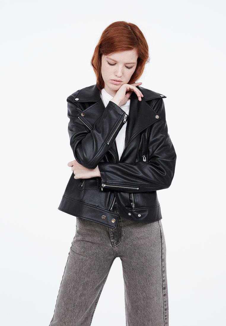 Куртка кожаная, Lime, цвет: черный. Артикул: MP002XW0R8YO. Одежда / Верхняя одежда / Косухи