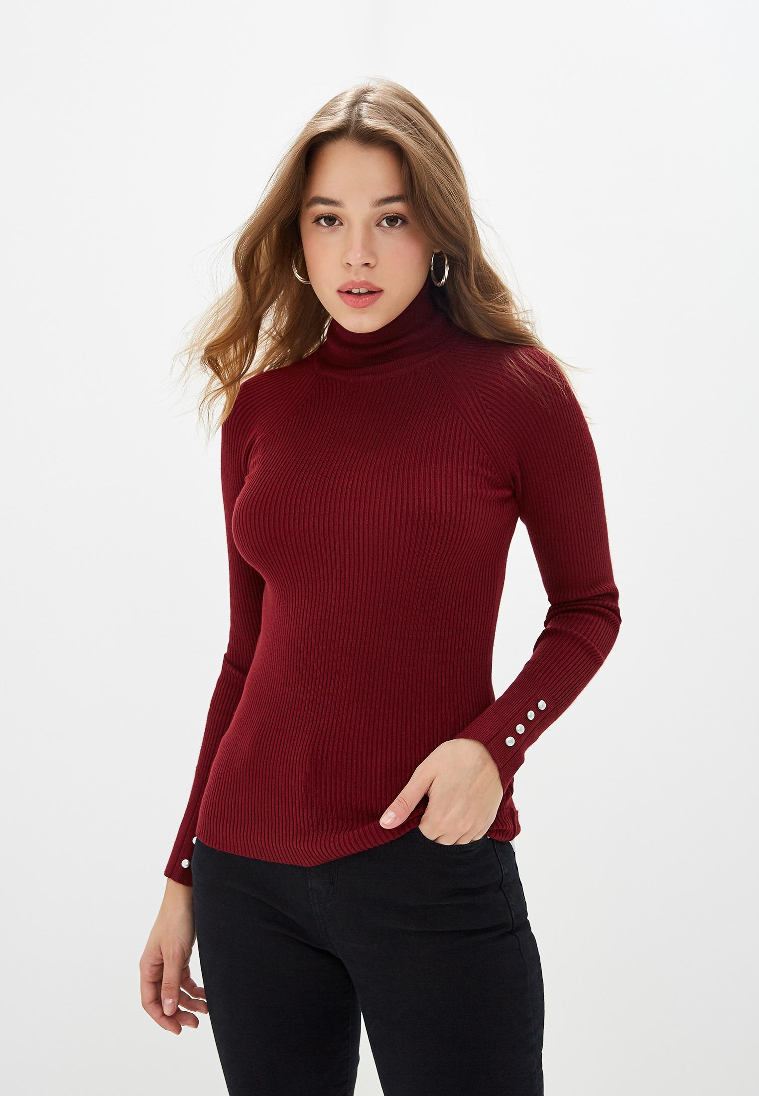 Водолазка, Zarina, цвет: бордовый. Артикул: MP002XW0RD9F. Одежда / Джемперы, свитеры и кардиганы