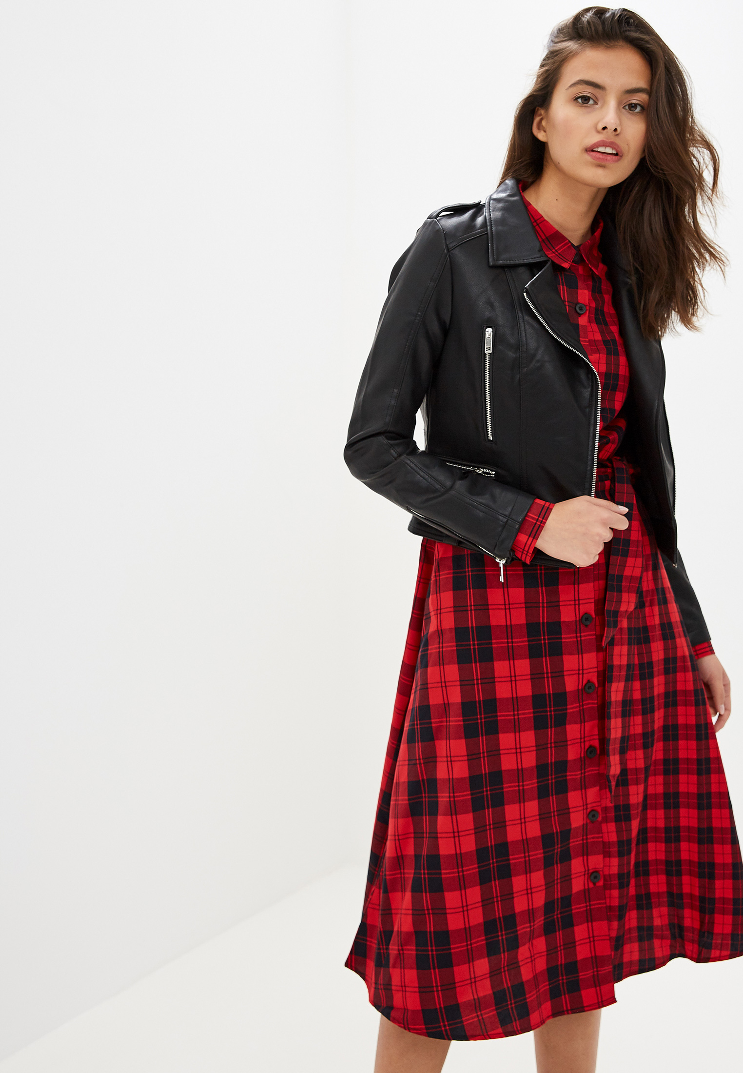 Куртка кожаная, Befree, цвет: черный. Артикул: MP002XW0RE0N. Одежда / Верхняя одежда / Косухи