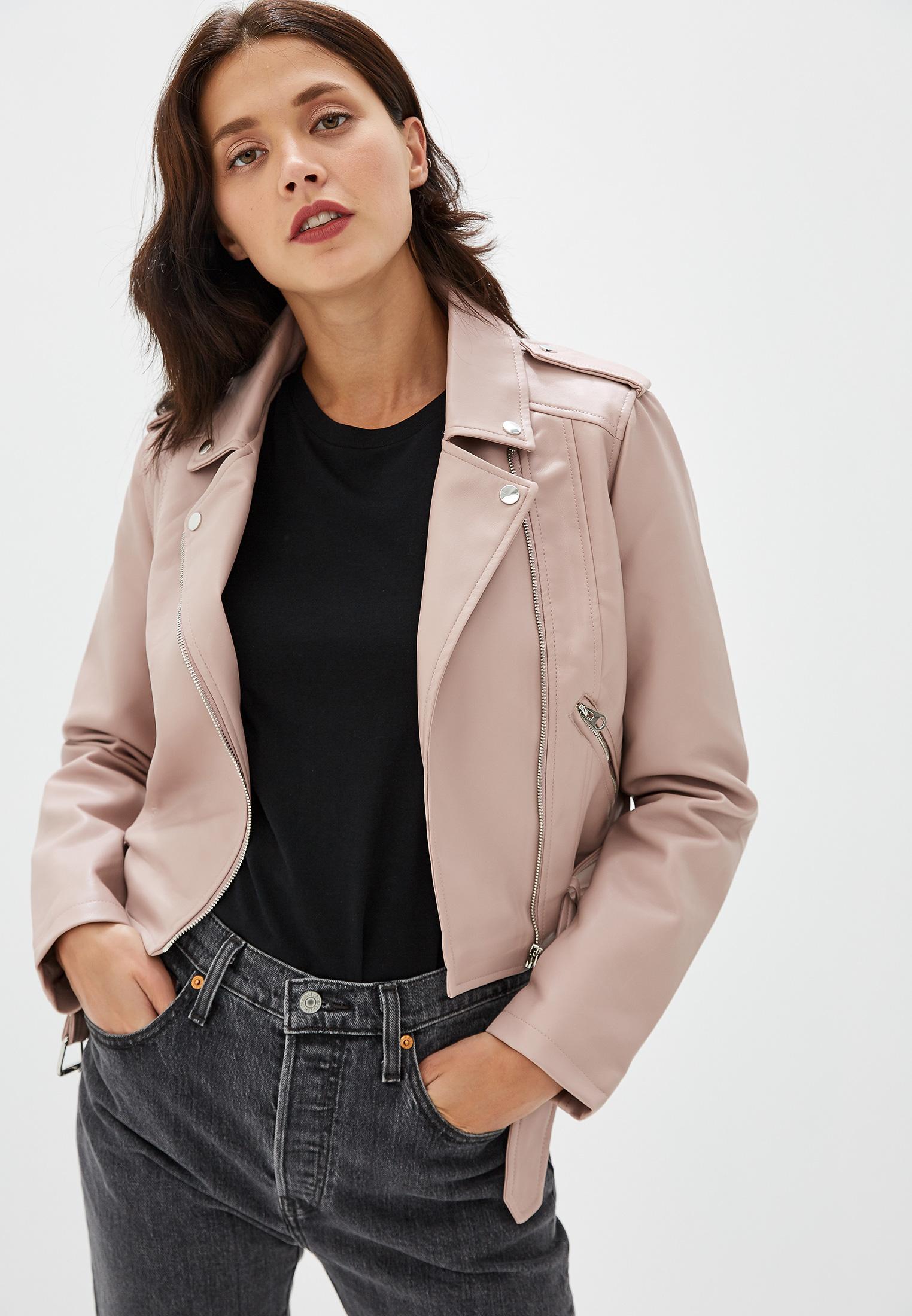 Куртка кожаная, Befree, цвет: розовый. Артикул: MP002XW0RE1P. Одежда / Верхняя одежда / Косухи