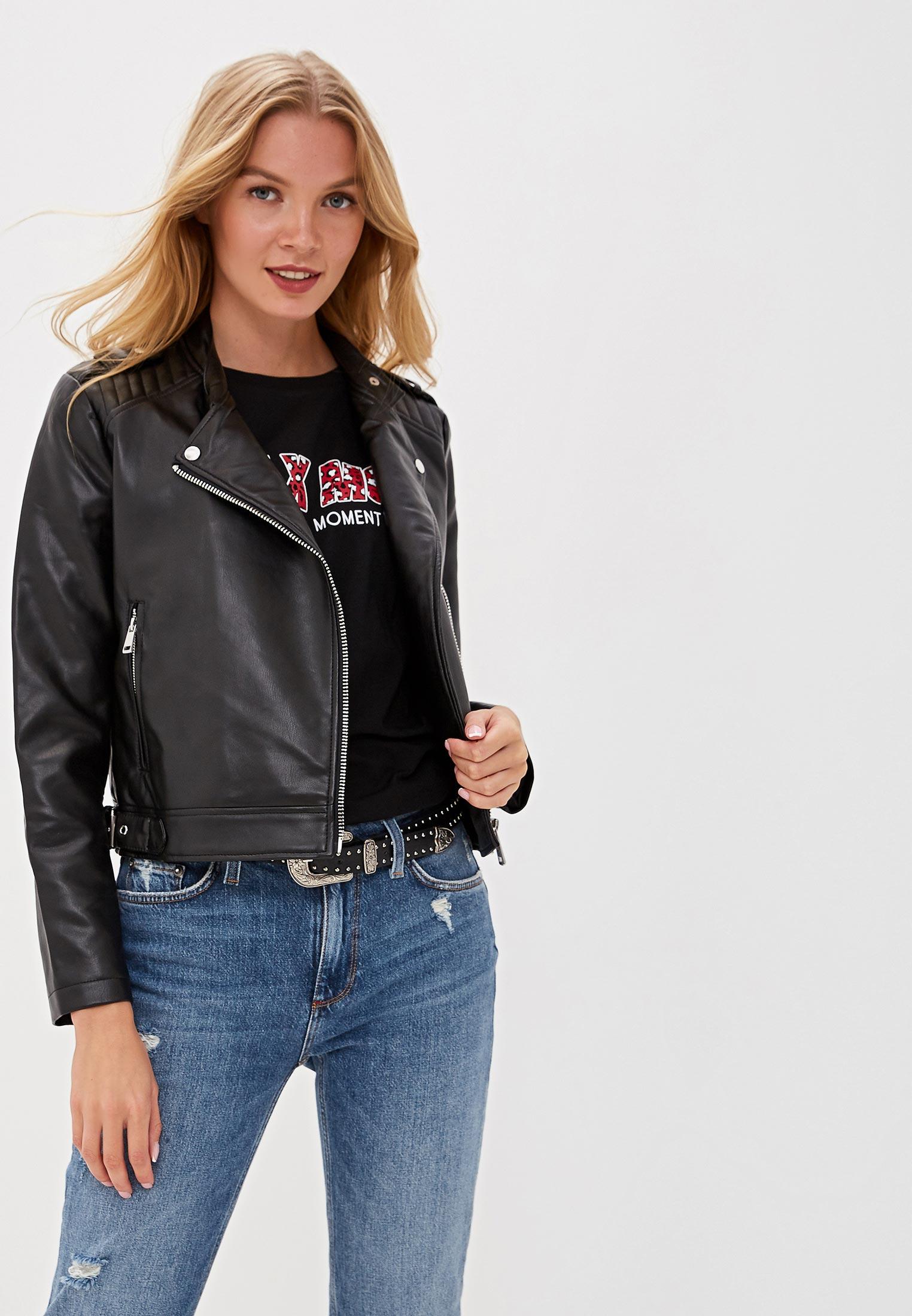 Куртка кожаная, Colin's, цвет: черный. Артикул: MP002XW0RHDA. Одежда / Верхняя одежда / Косухи