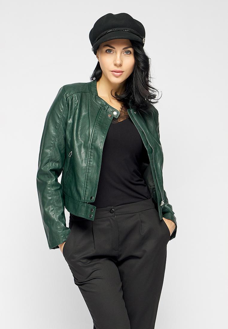 Куртка кожаная, Bellart, цвет: зеленый. Артикул: MP002XW0WG2T. Одежда / Верхняя одежда / Косухи