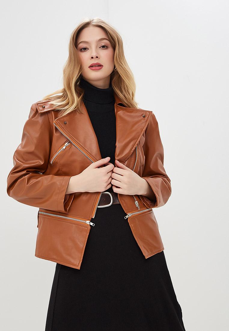 Куртка кожаная, Moon River, цвет: коричневый. Артикул: MP002XW0YBT8. Одежда / Верхняя одежда / Косухи