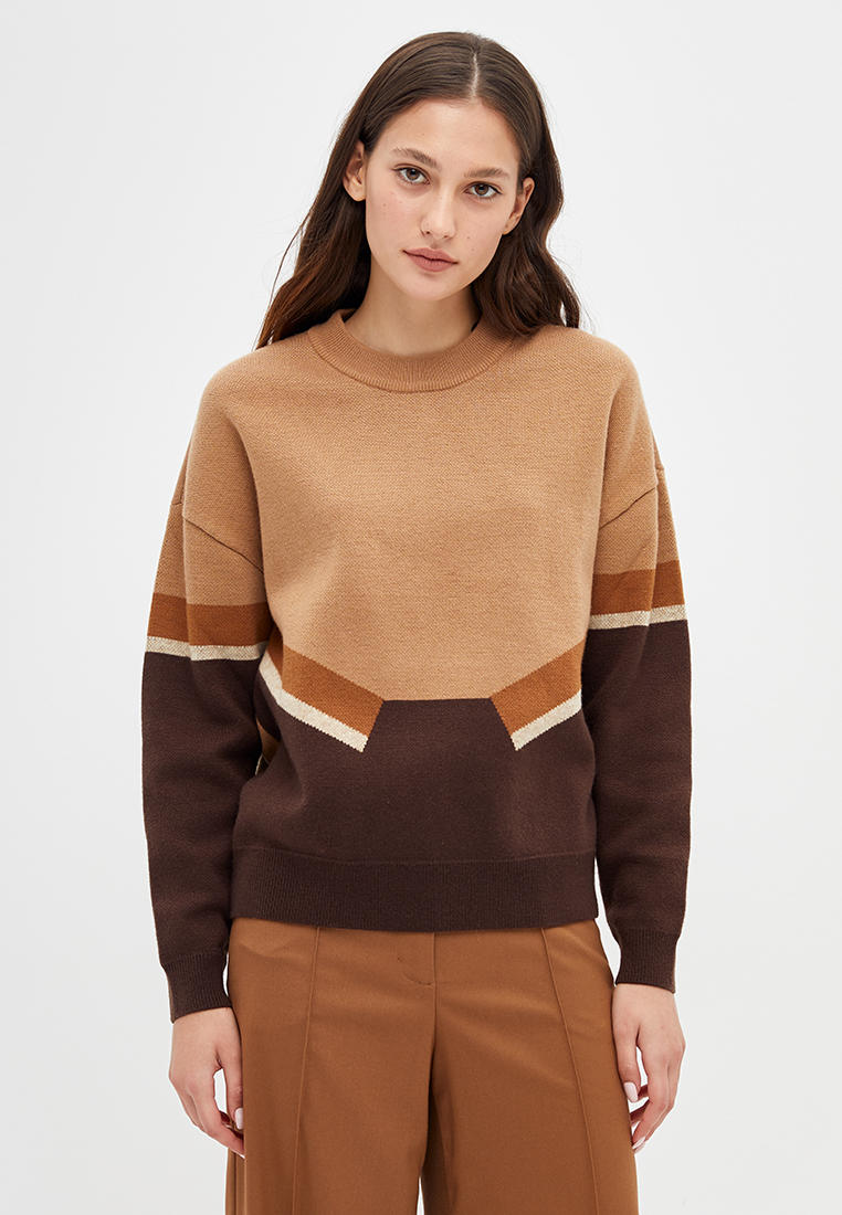Джемпер, Lime, цвет: бежевый. Артикул: MP002XW120FN. Одежда / Джемперы, свитеры и кардиганы