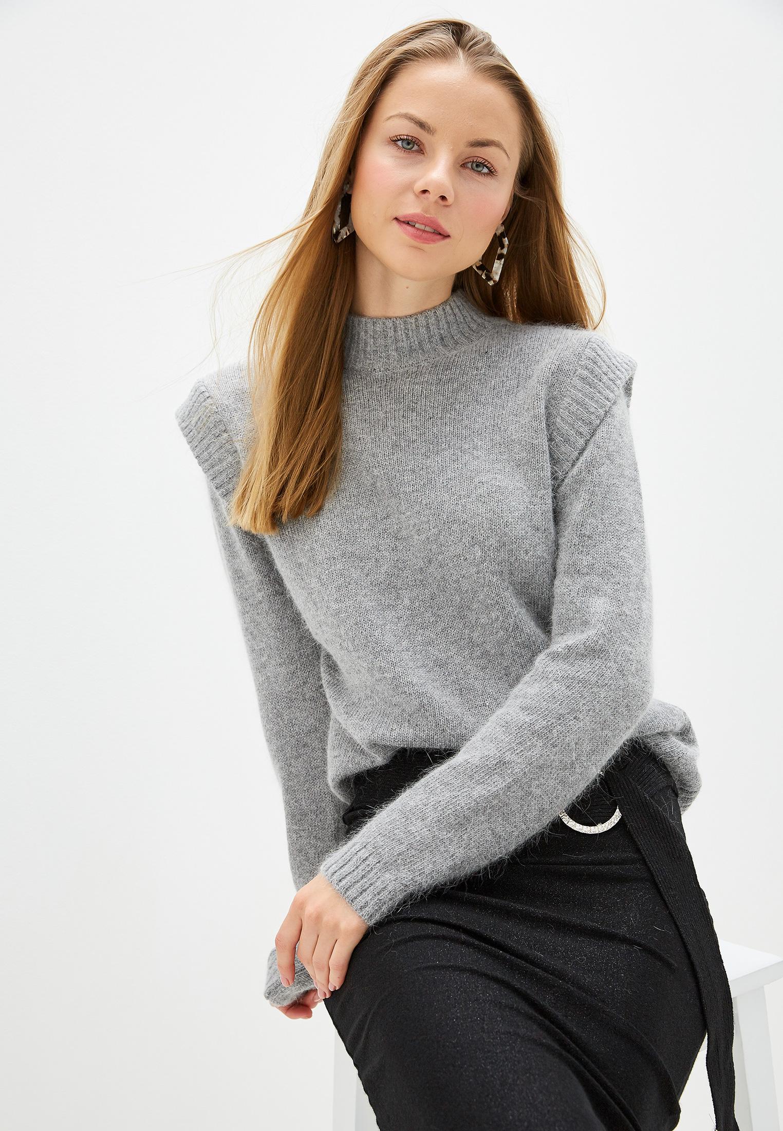 Свитер, Love Republic, цвет: серый. Артикул: MP002XW1210E. Одежда / Джемперы, свитеры и кардиганы