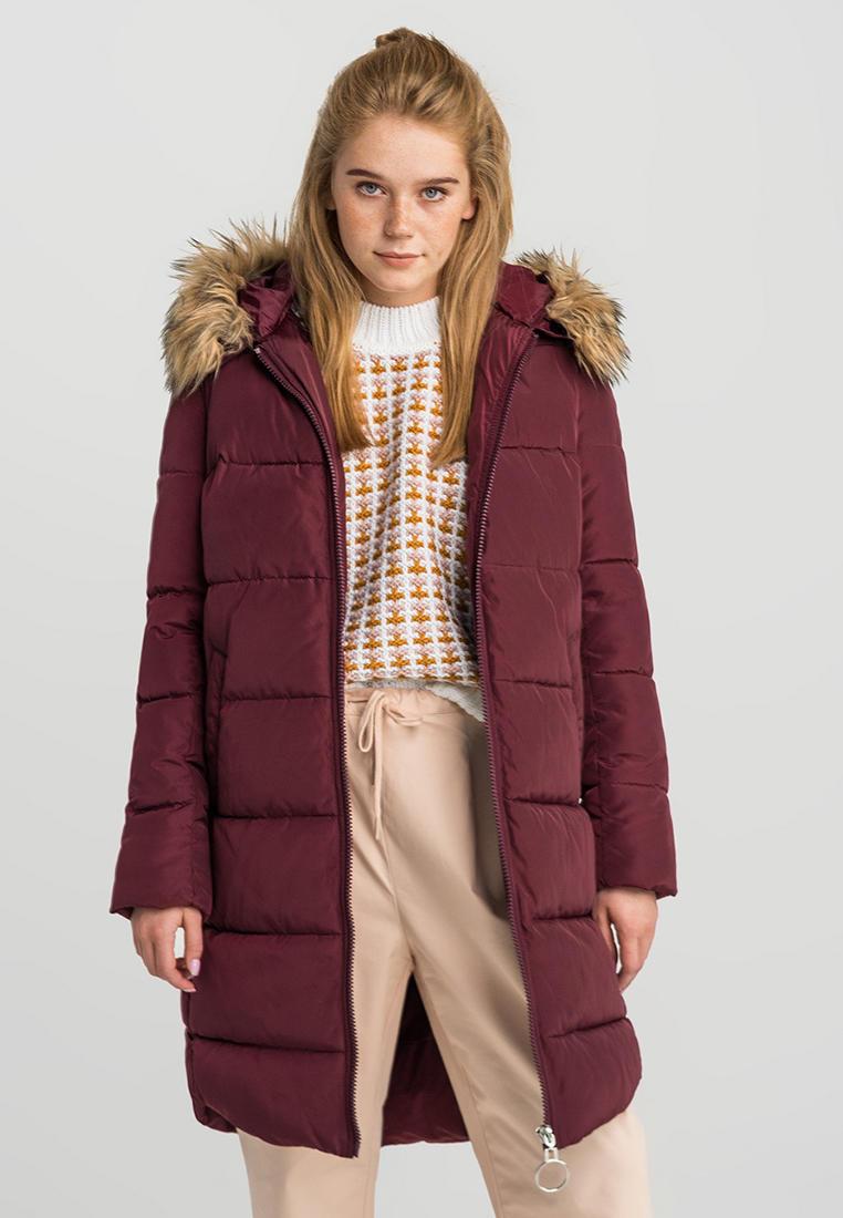 Куртка утепленная, Befree, цвет: бордовый. Артикул: MP002XW1211V. Одежда / Верхняя одежда