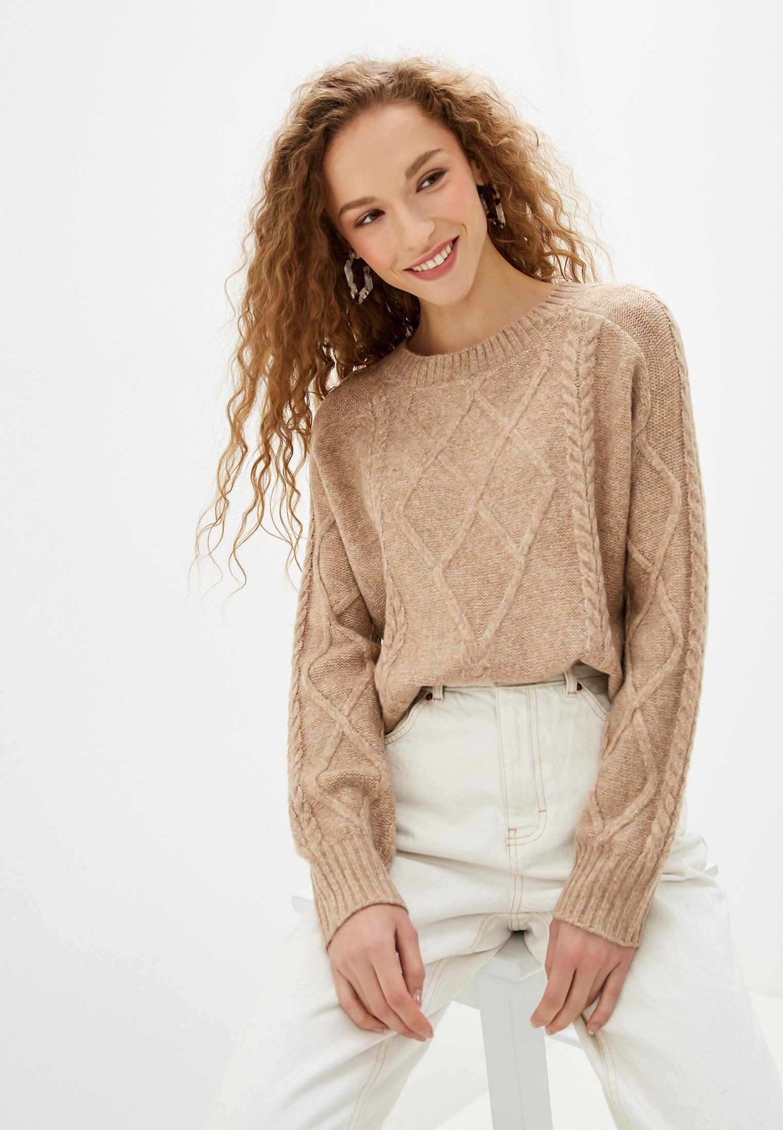 Джемпер, Zarina, цвет: бежевый. Артикул: MP002XW1248W. Одежда / Джемперы, свитеры и кардиганы