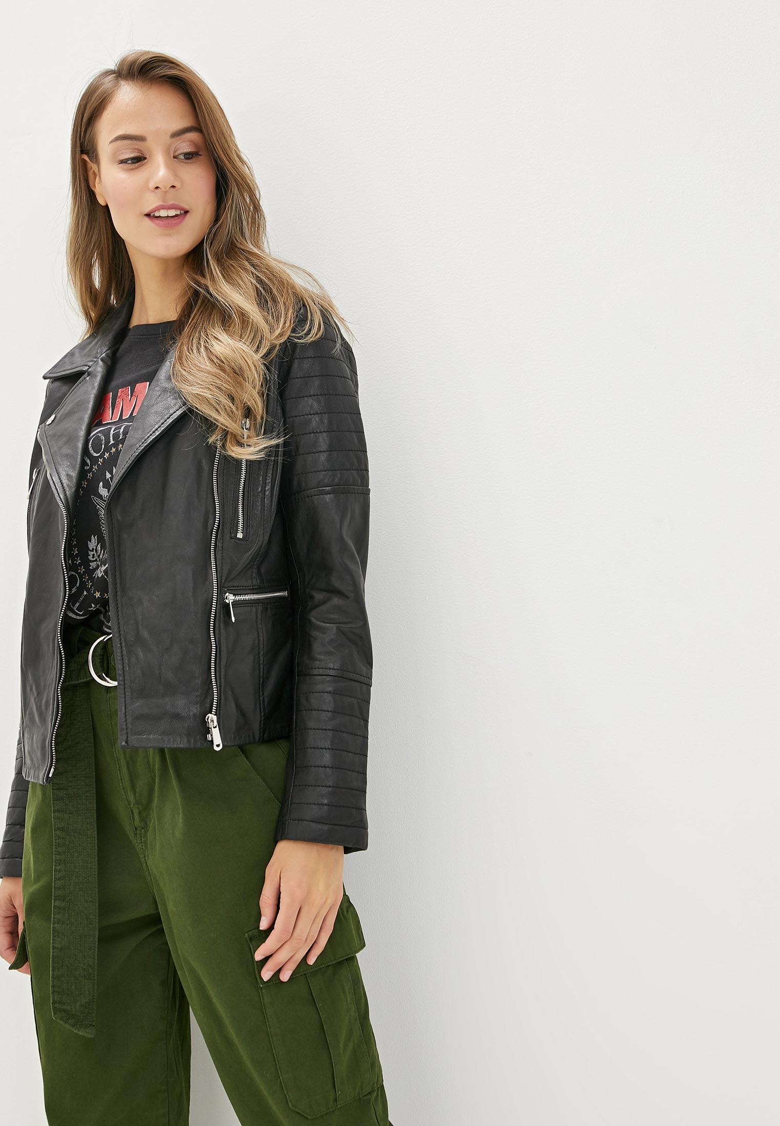 Куртка кожаная, La Reine Blanche, цвет: черный. Артикул: MP002XW125K0. Одежда / Верхняя одежда / Косухи