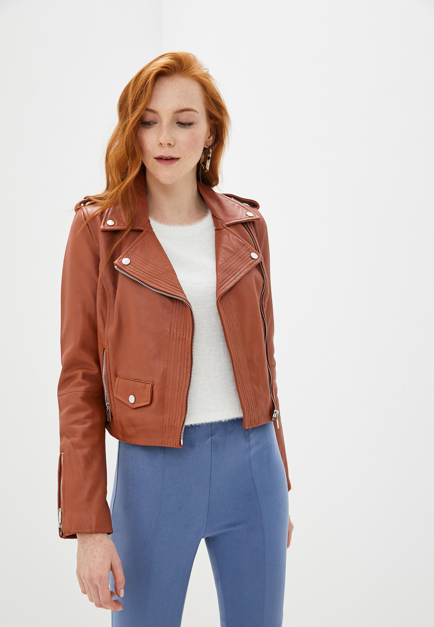 Куртка кожаная, La Reine Blanche, цвет: черный. Артикул: MP002XW125K4. Одежда / Верхняя одежда / Косухи