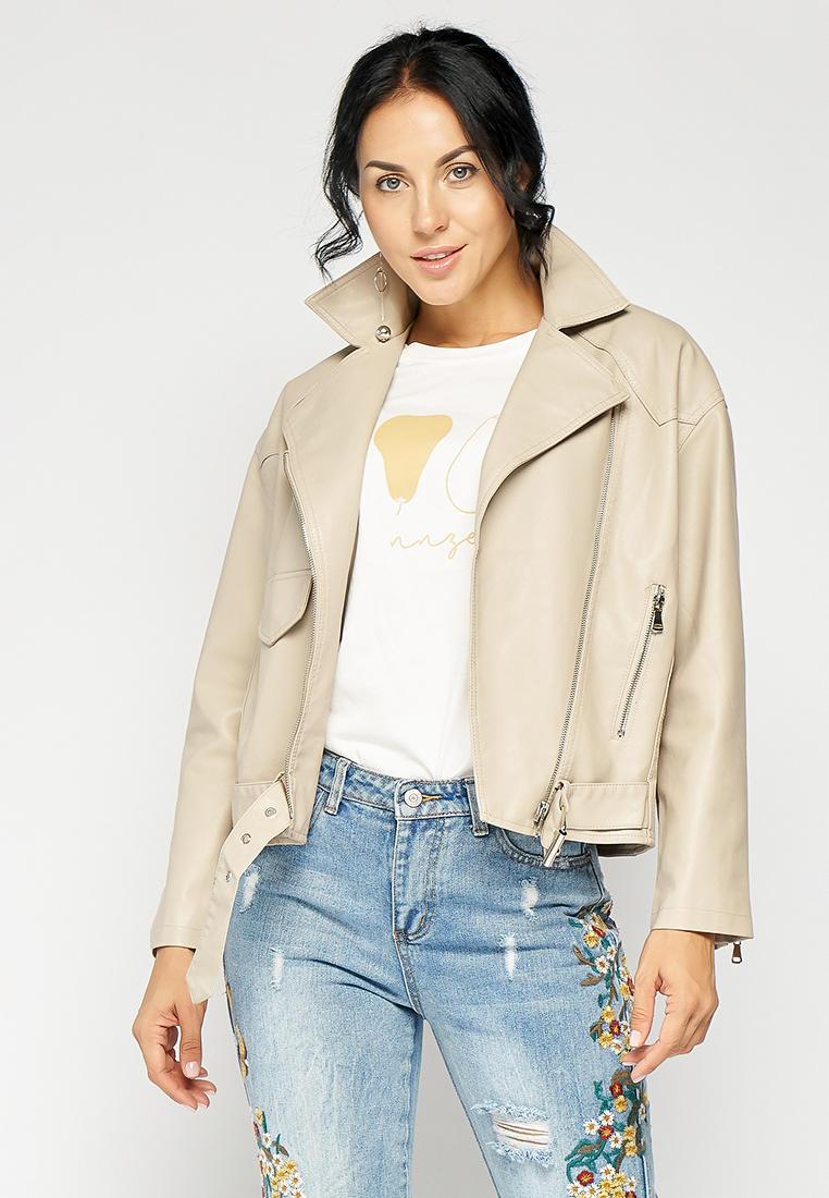 Куртка кожаная, Bellart, цвет: бежевый. Артикул: MP002XW15122. Одежда / Верхняя одежда / Косухи
