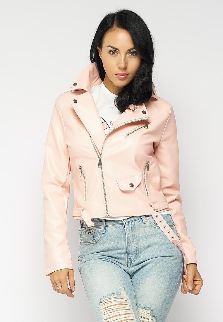 Куртка кожаная, Bellart, цвет: розовый. Артикул: MP002XW15FLY. Одежда / Верхняя одежда / Косухи