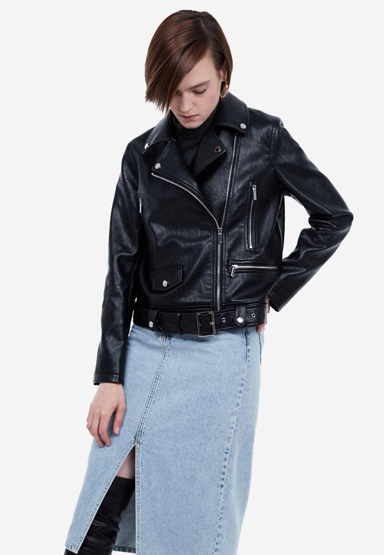 Куртка кожаная, Lime, цвет: черный. Артикул: MP002XW18T32. Одежда / Верхняя одежда / Косухи