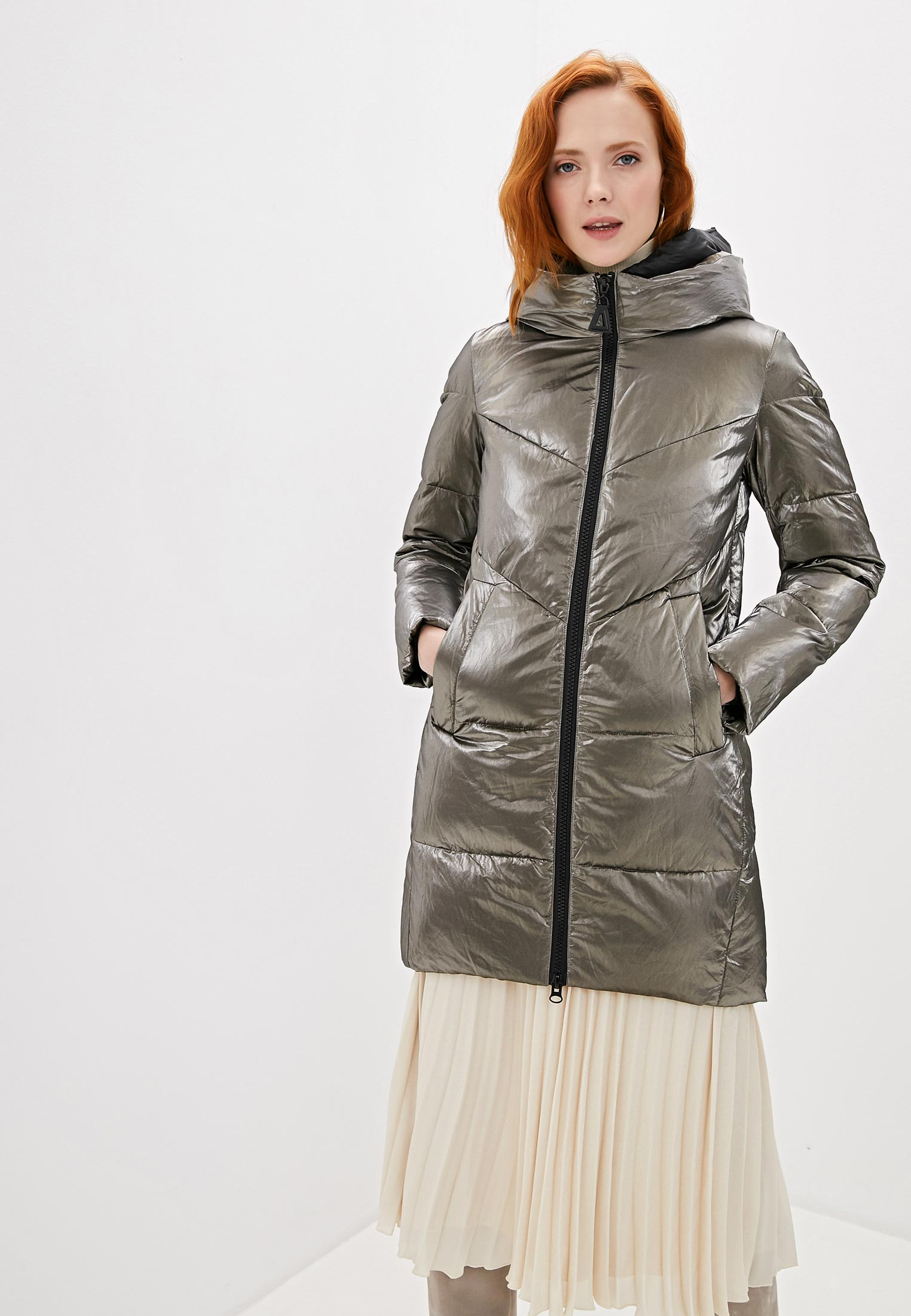 Куртка утепленная, Marco Bonne`, цвет: серебряный. Артикул: MP002XW1BX3G. Одежда / Верхняя одежда