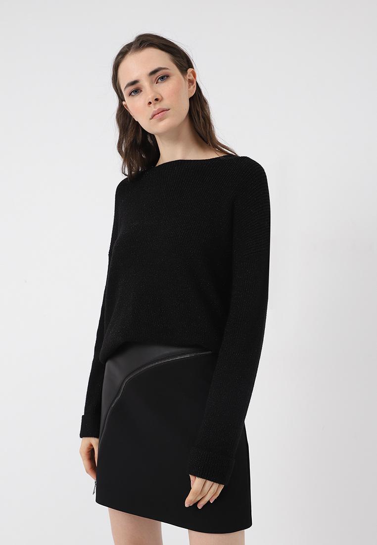 Джемпер, Lime, цвет: черный. Артикул: MP002XW1GSZL. Одежда / Джемперы, свитеры и кардиганы