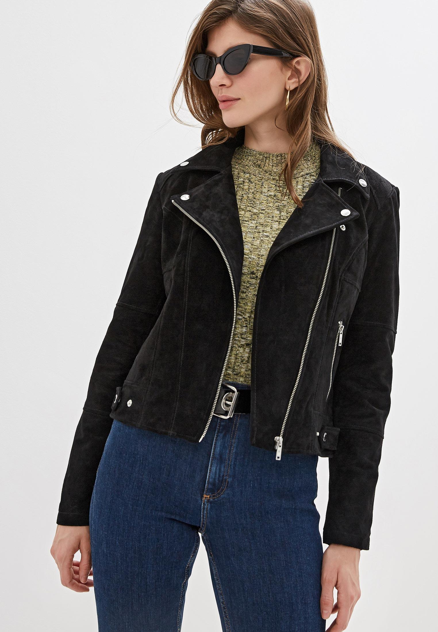 Куртка кожаная, Noisy May, цвет: черный. Артикул: NO963EWFOZG7. Одежда / Верхняя одежда / Косухи