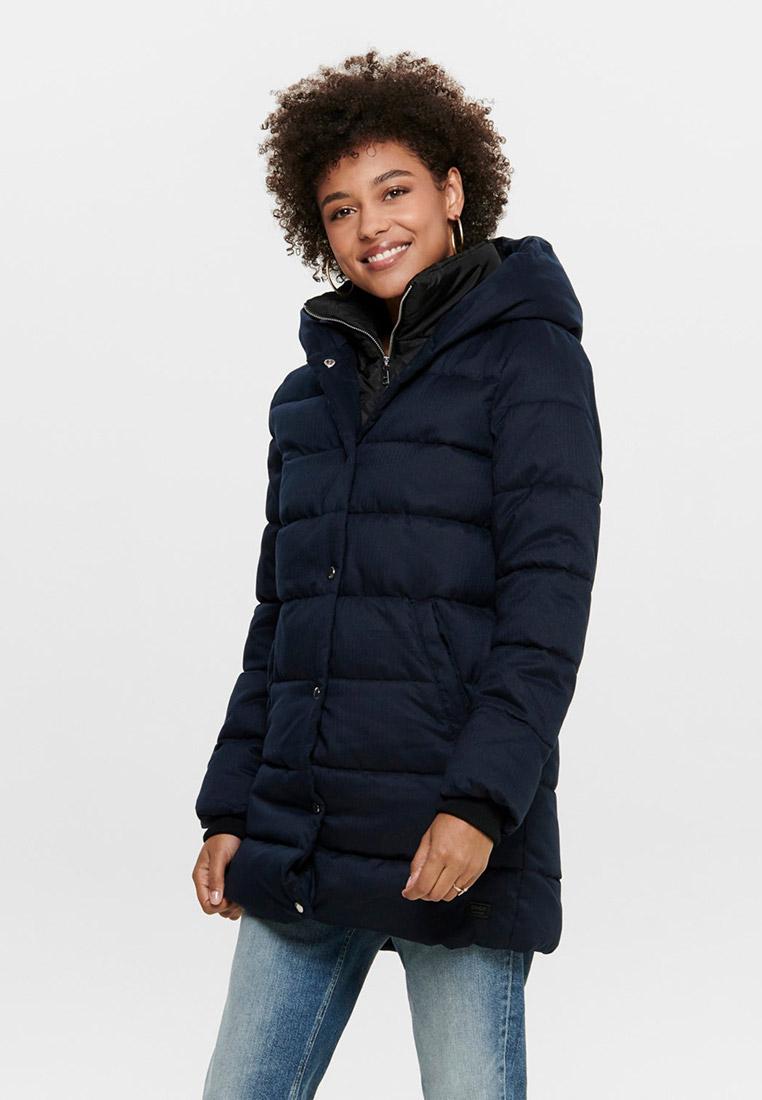 Куртка утепленная, Only, цвет: синий. Артикул: ON380EWFPAP5. Одежда / Верхняя одежда