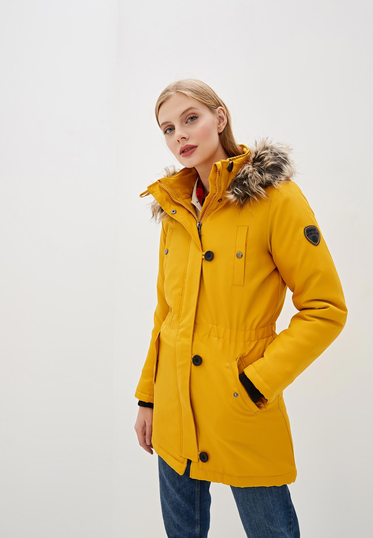 Парка, Only, цвет: желтый. Артикул: ON380EWFPDG8. Одежда / Верхняя одежда / Парки