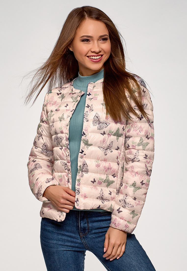 Куртка утепленная, oodji, цвет: розовый. Артикул: OO001EWEBHT0. Одежда / Верхняя одежда