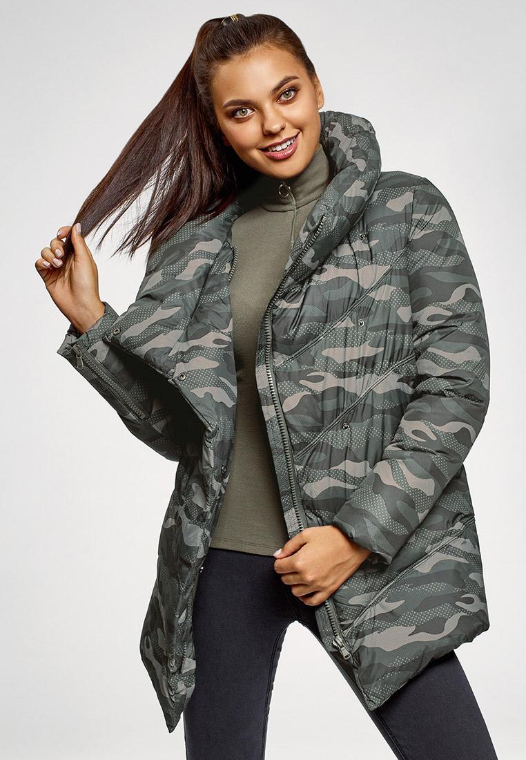 Куртка утепленная, oodji, цвет: мультиколор. Артикул: OO001EWGEXC3. Одежда / Верхняя одежда