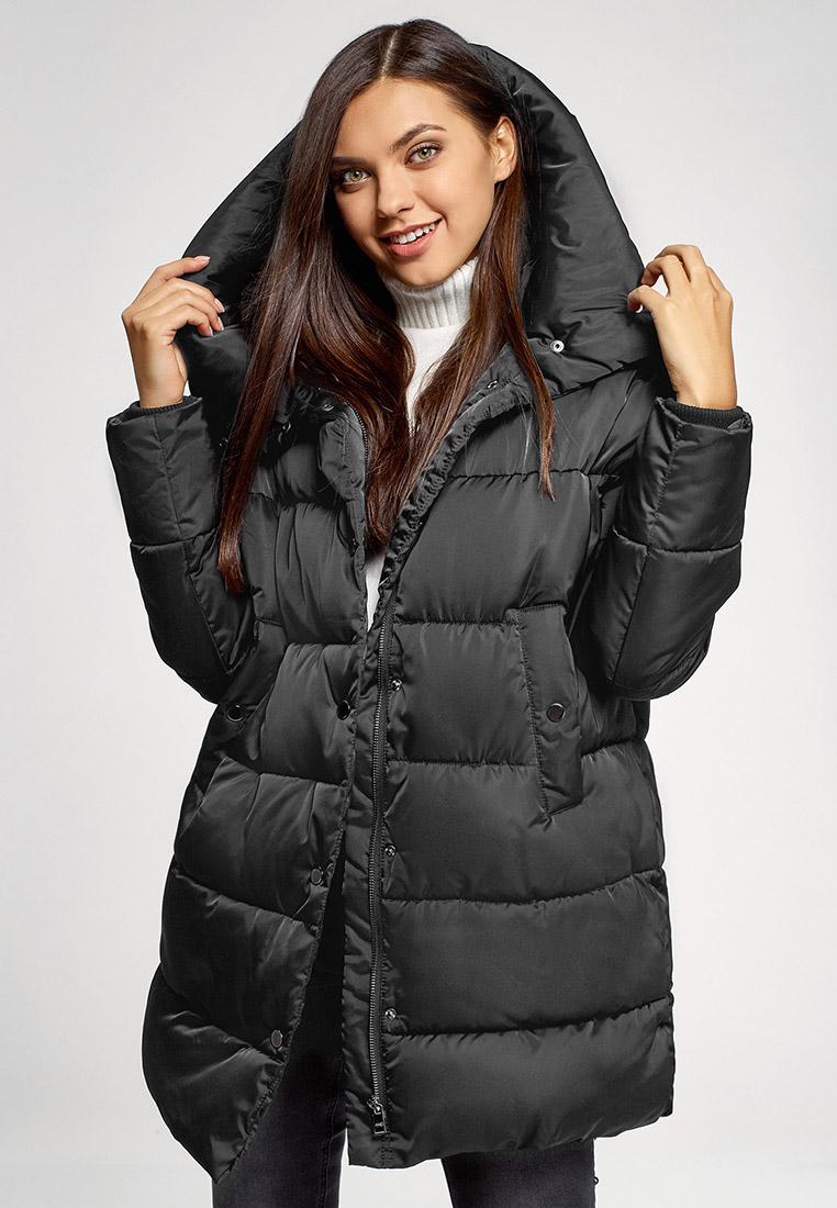 Куртка утепленная, oodji, цвет: черный. Артикул: OO001EWHIGO1. Одежда / Верхняя одежда
