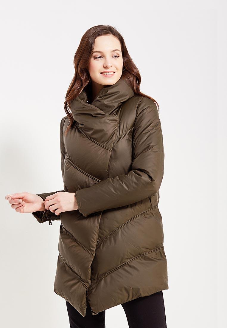 Куртка утепленная, oodji, цвет: хаки. Артикул: OO001EWYPY62. Одежда / Верхняя одежда