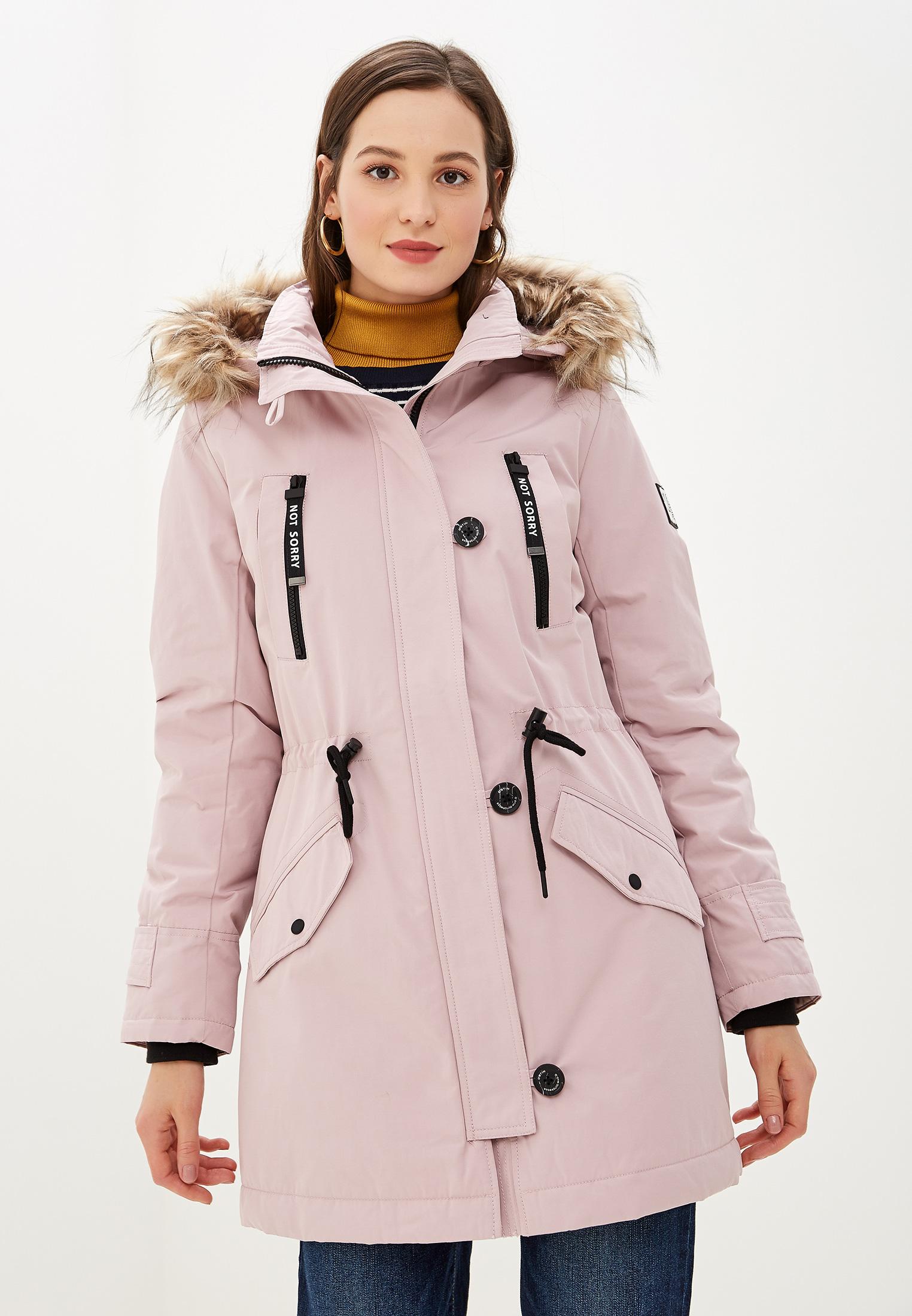 Парка, O'stin, цвет: розовый. Артикул: OS004EWGGSX5. Одежда / Верхняя одежда / Парки