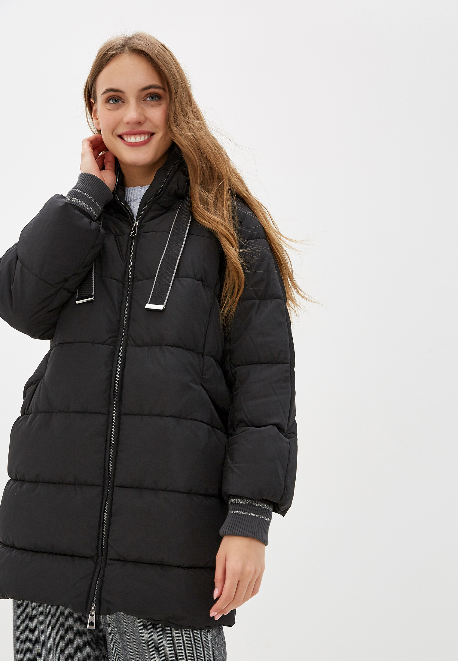 Куртка утепленная, O'stin, цвет: черный. Артикул: OS004EWGUKP2. Одежда / Верхняя одежда