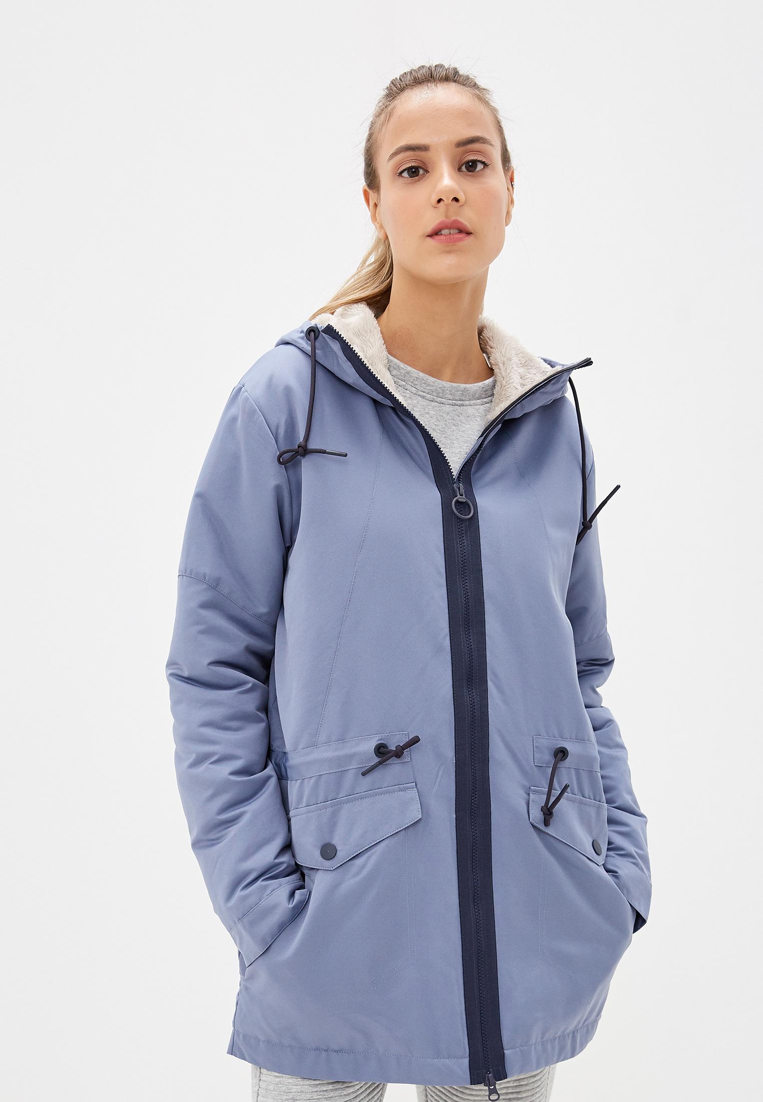 Парка, Reebok, цвет: синий. Артикул: RE160EWFKWT9. Одежда / Верхняя одежда / Парки