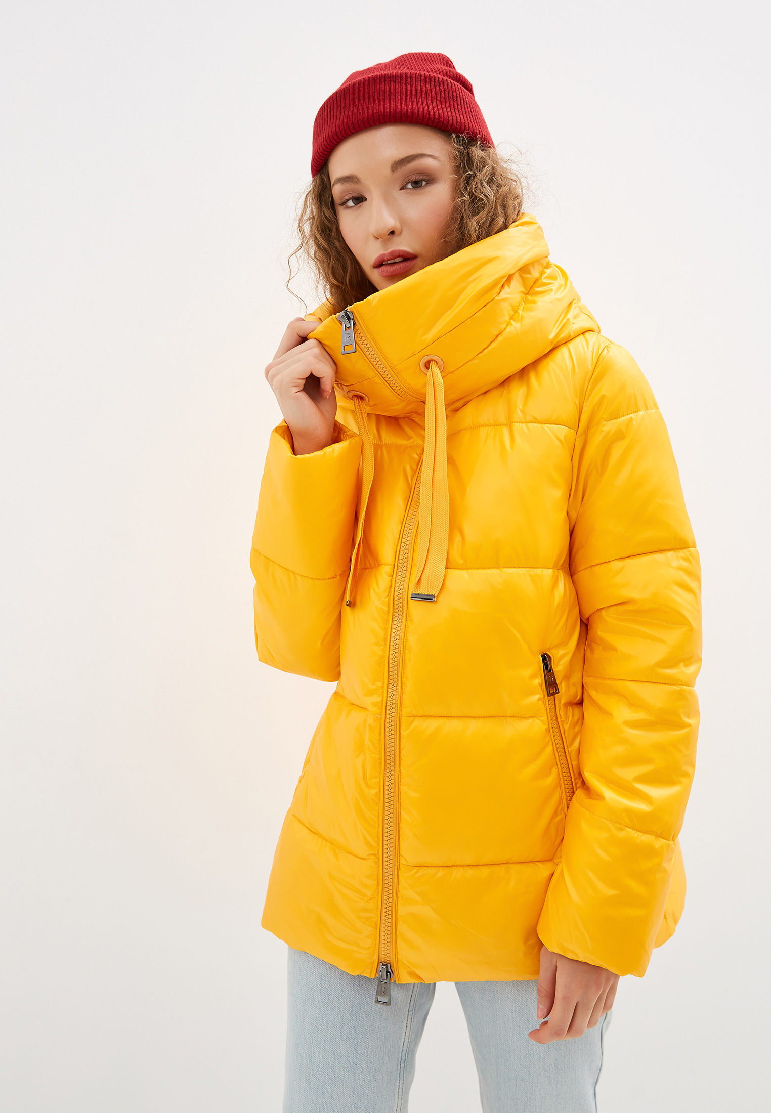 Куртка утепленная, Rinascimento, цвет: желтый. Артикул: RI005EWGAYX5. Одежда / Верхняя одежда