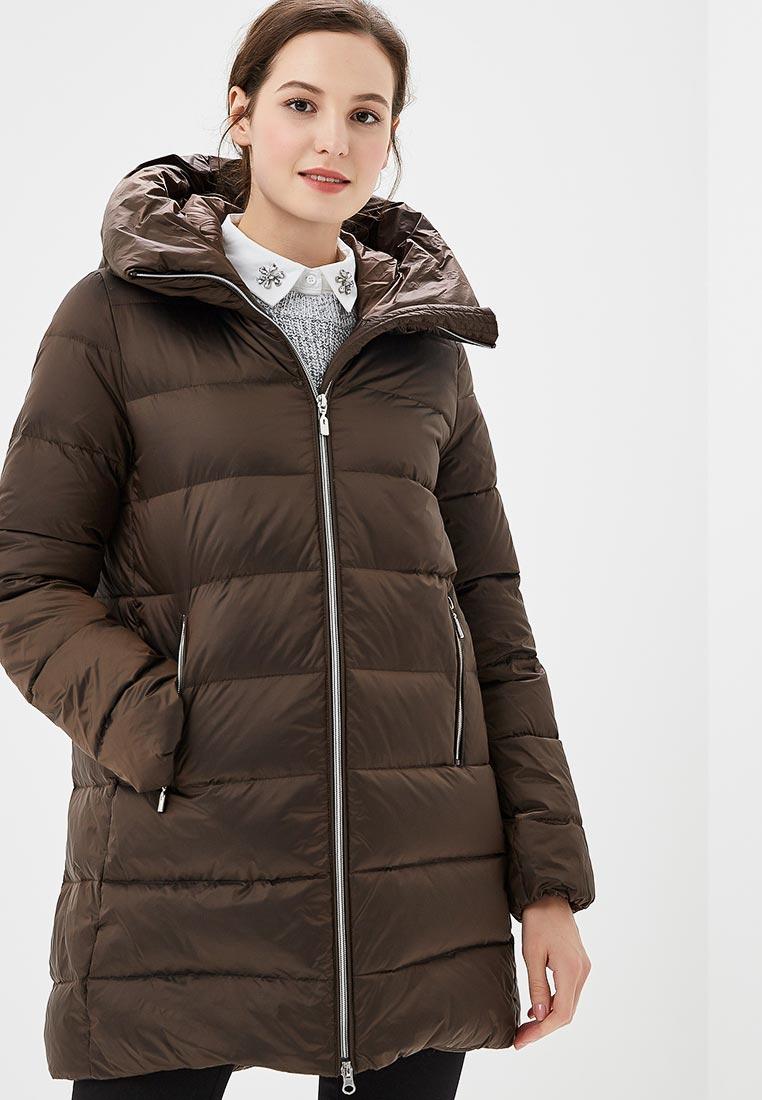 Пуховик, Savage, цвет: коричневый. Артикул: SA004EWCMVB7. Одежда / Верхняя одежда / Пуховики и зимние куртки