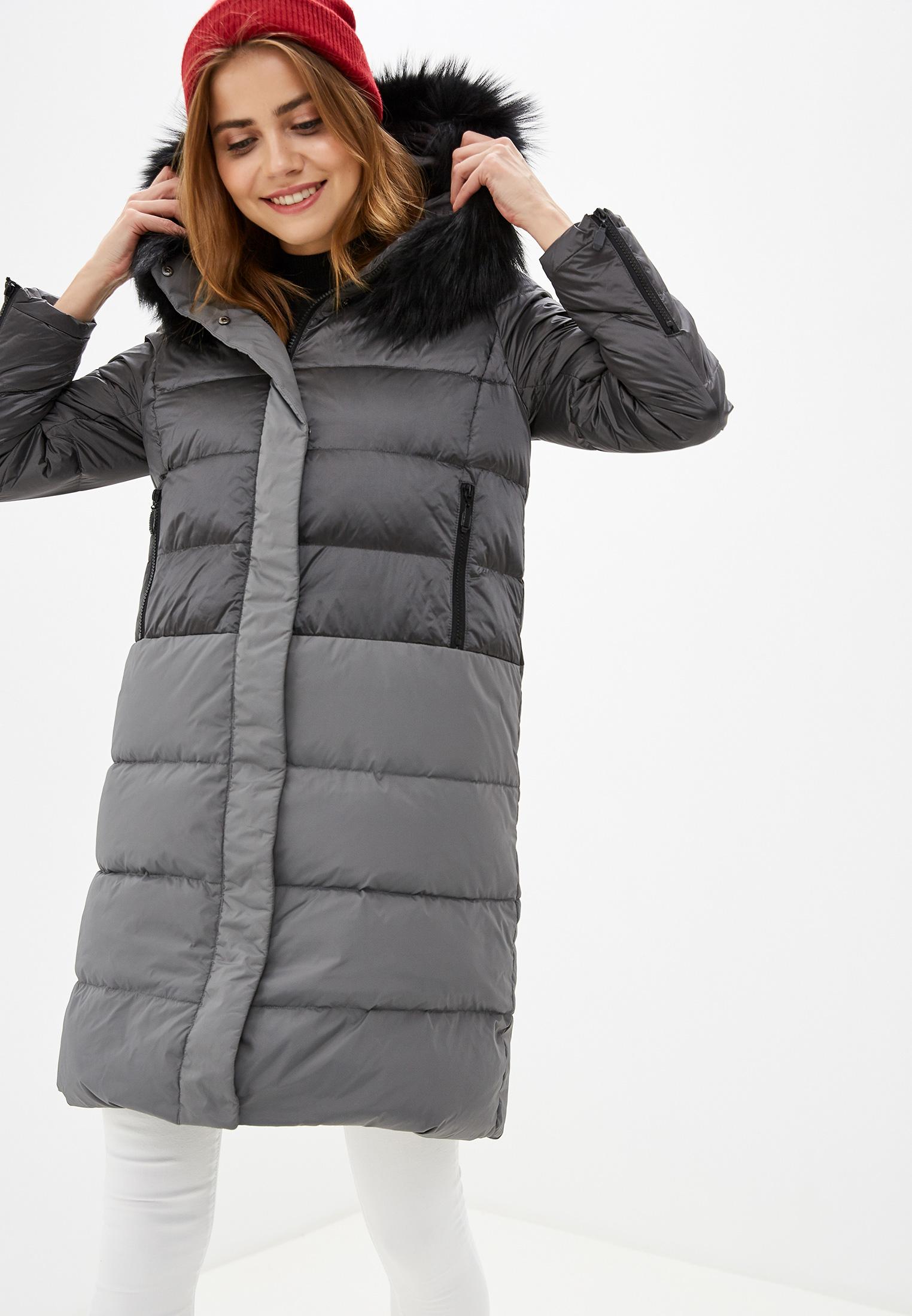 Пуховик, Savage, цвет: серый. Артикул: SA004EWGERZ6. Одежда / Верхняя одежда / Пуховики и зимние куртки