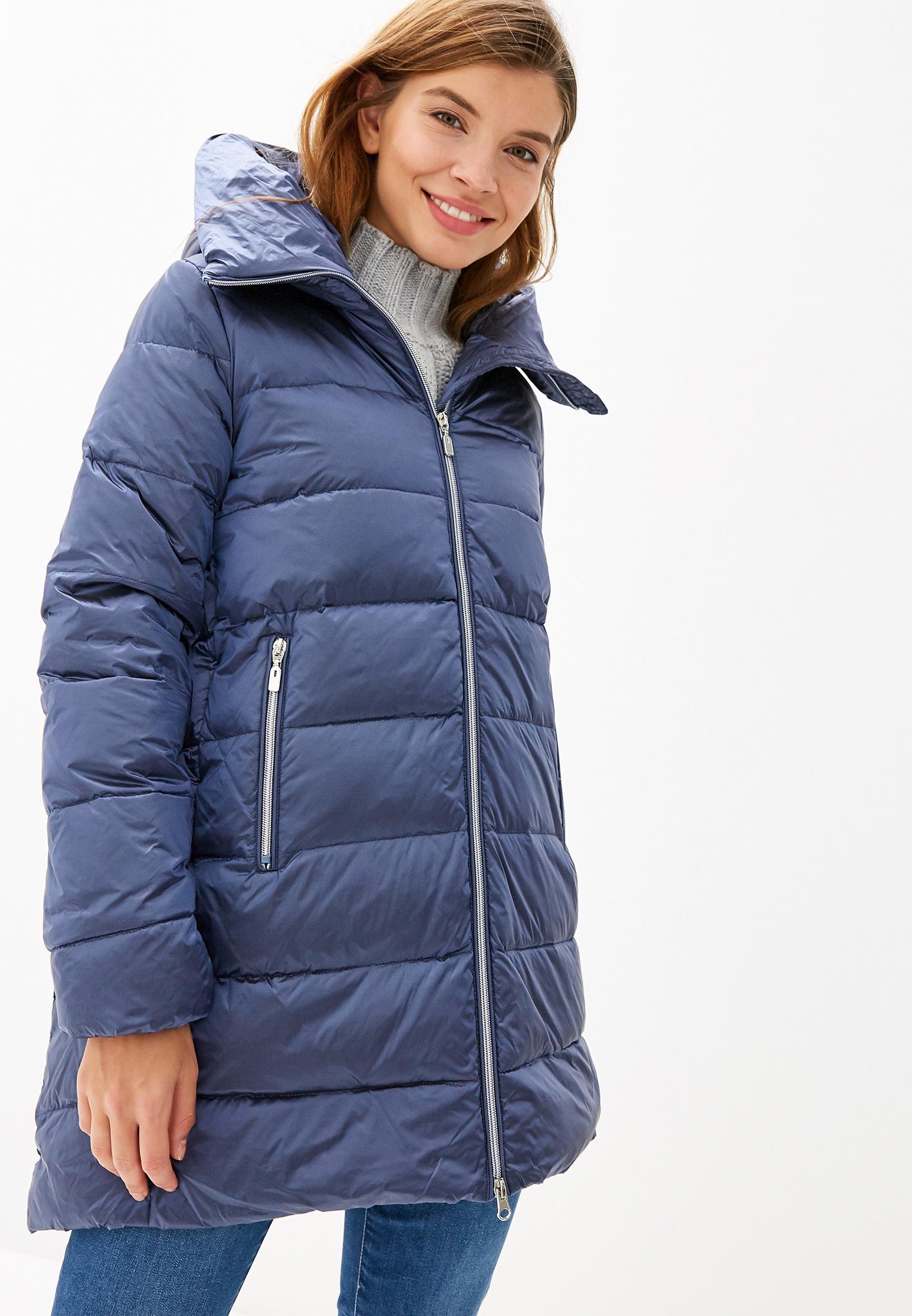 Пуховик, Savage, цвет: синий. Артикул: SA004EWGESA1. Одежда / Верхняя одежда / Пуховики и зимние куртки