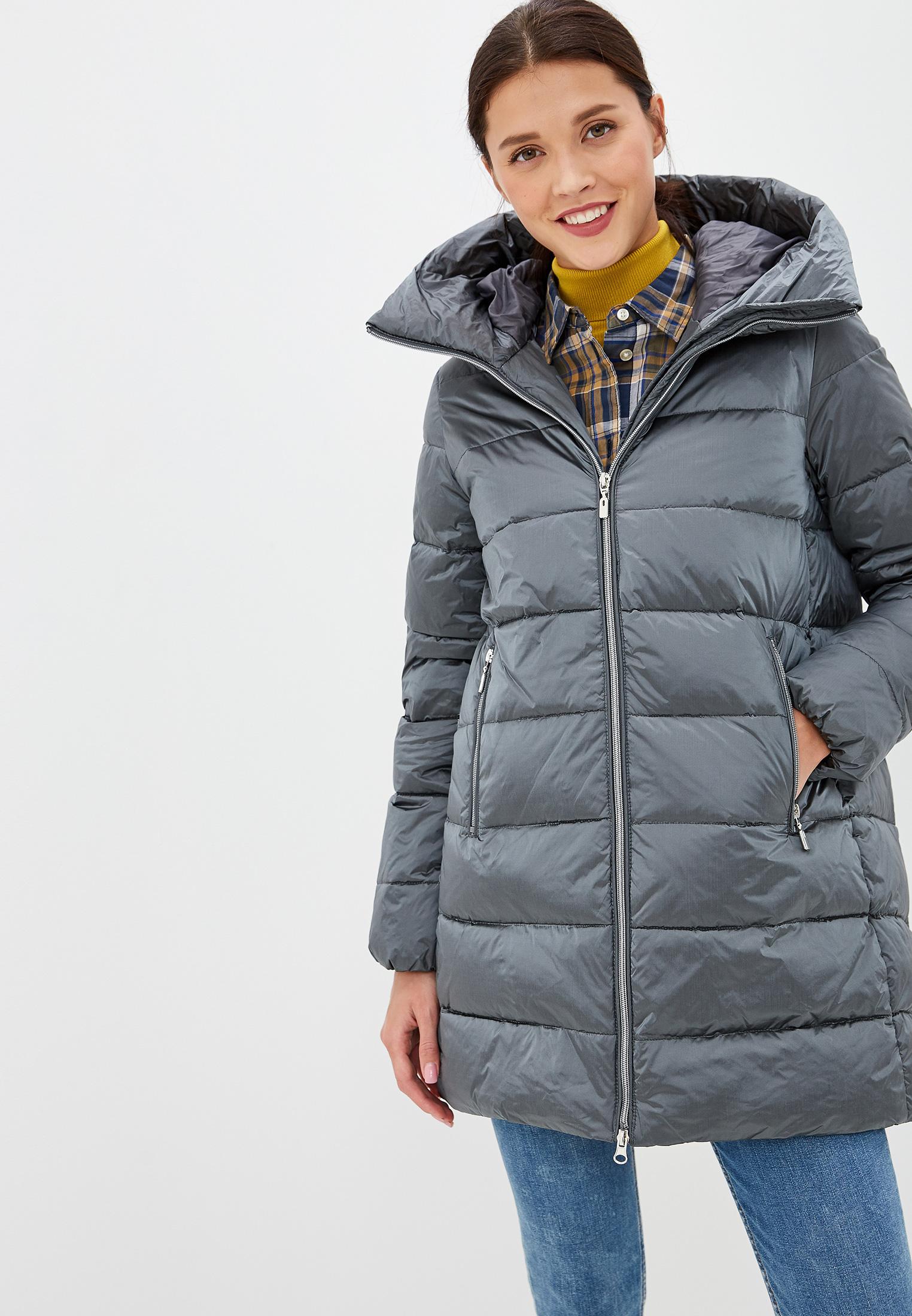 Пуховик, Savage, цвет: серый. Артикул: SA004EWGESA3. Одежда / Верхняя одежда / Пуховики и зимние куртки
