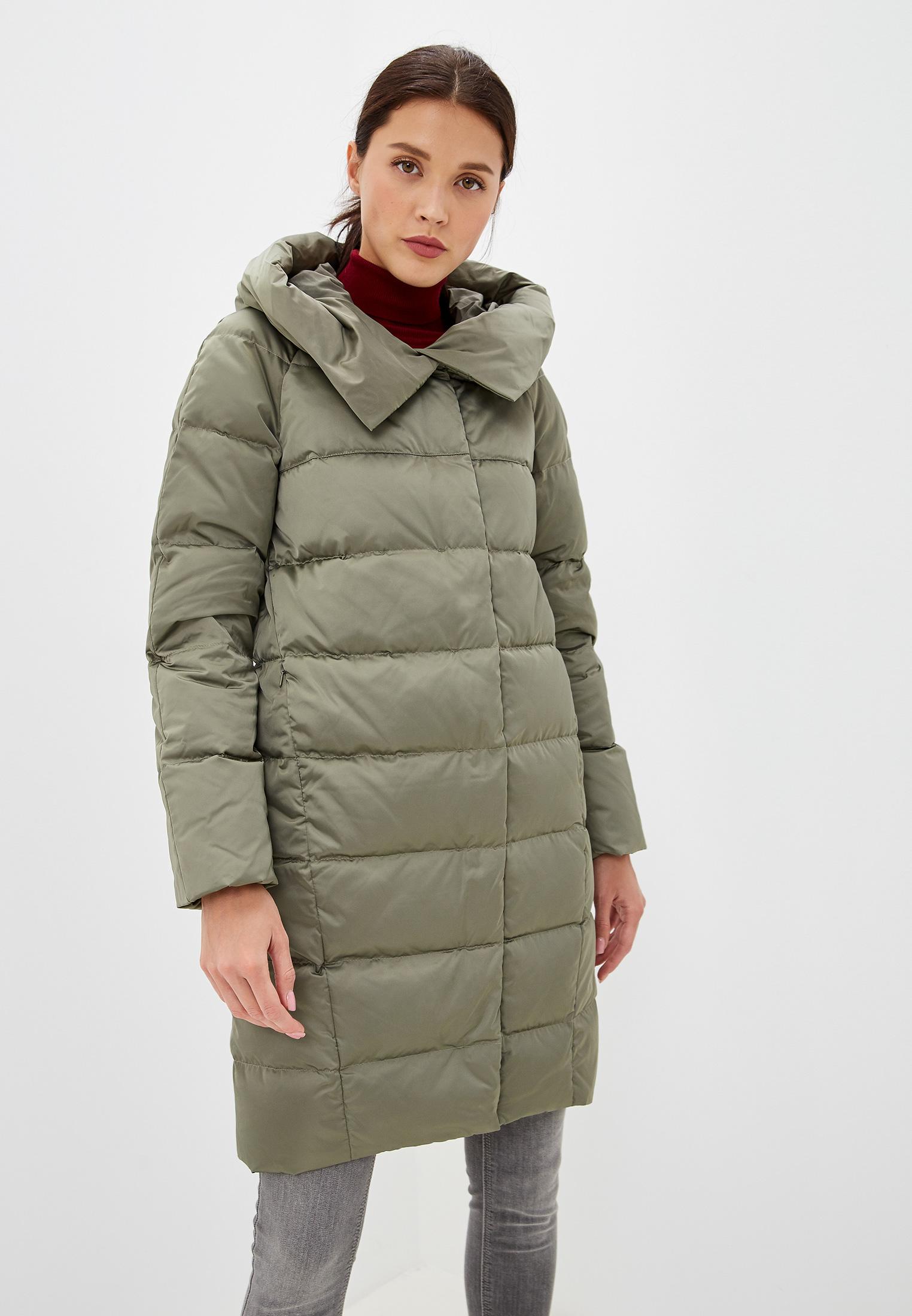 Пуховик, Savage, цвет: хаки. Артикул: SA004EWGESA6. Одежда / Верхняя одежда / Пуховики и зимние куртки