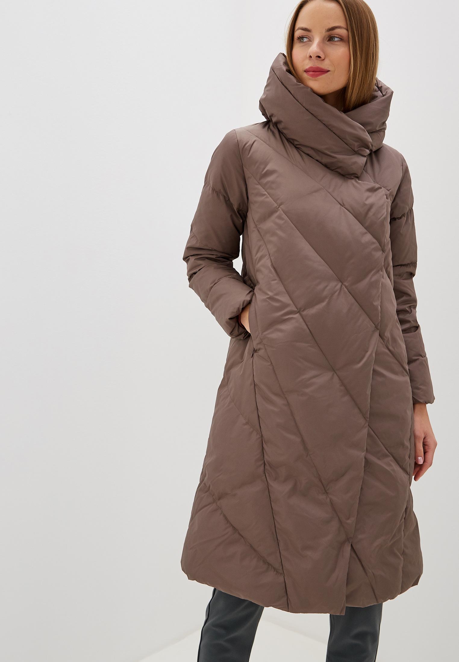 Пуховик, Savage, цвет: коричневый. Артикул: SA004EWGESB3. Одежда / Верхняя одежда / Пуховики и зимние куртки