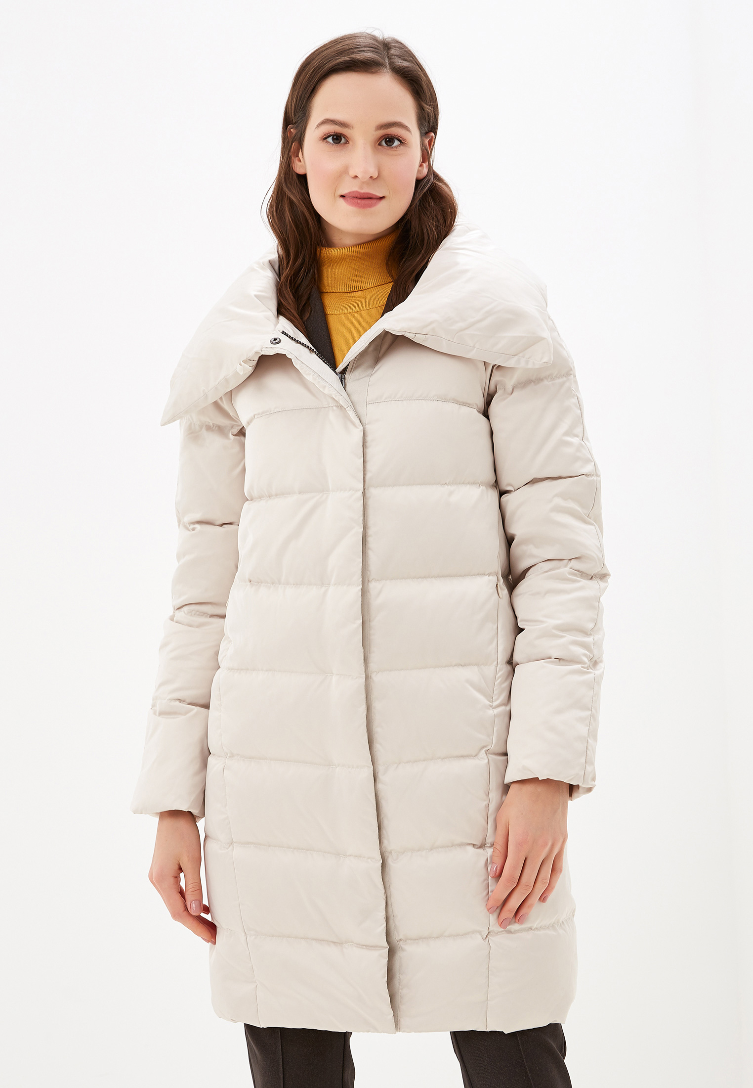 Пуховик, Savage, цвет: белый. Артикул: SA004EWGESB6. Одежда / Верхняя одежда / Пуховики и зимние куртки