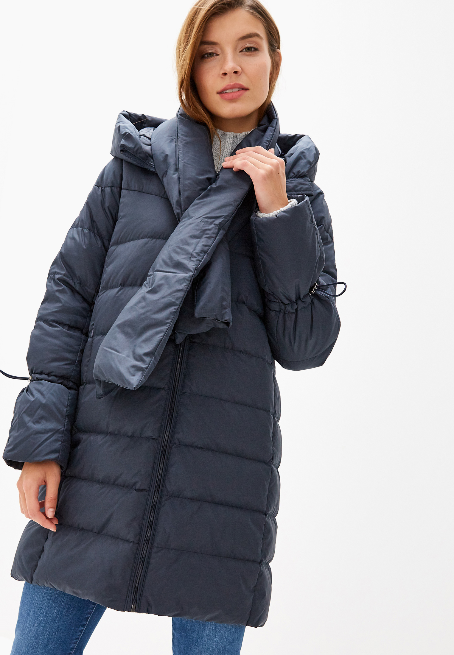 Пуховик, Savage, цвет: синий. Артикул: SA004EWGESC0. Одежда / Верхняя одежда / Пуховики и зимние куртки