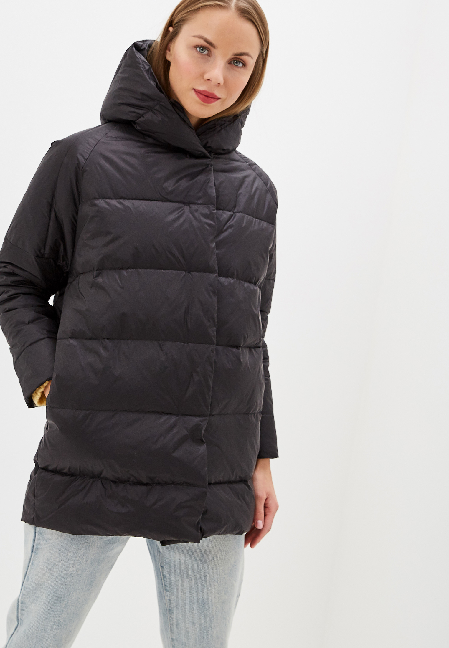 Пуховик, Savage, цвет: черный. Артикул: SA004EWGESC5. Одежда / Верхняя одежда / Пуховики и зимние куртки