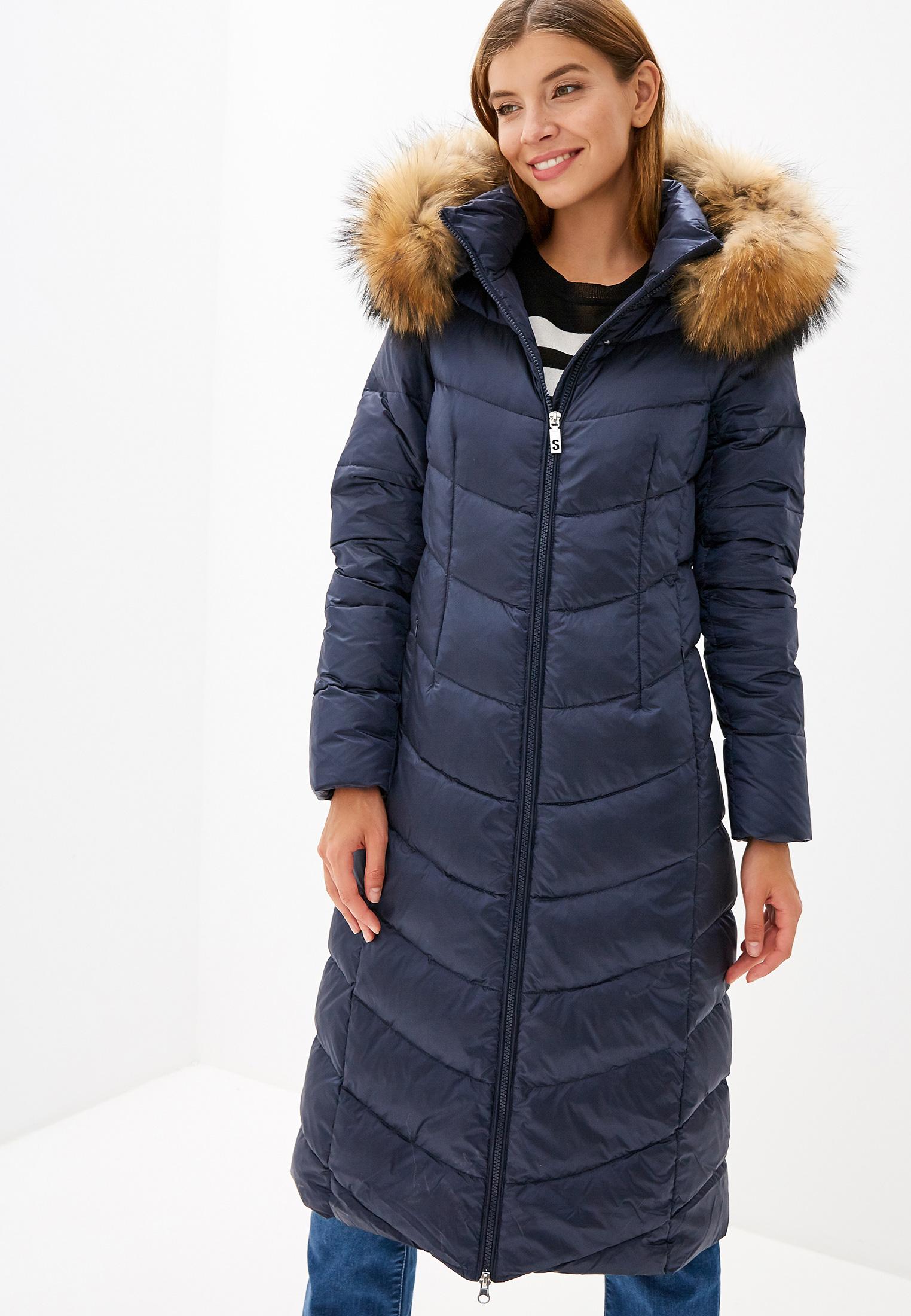 Пуховик, Savage, цвет: синий. Артикул: SA004EWGESC6. Одежда / Верхняя одежда / Пуховики и зимние куртки