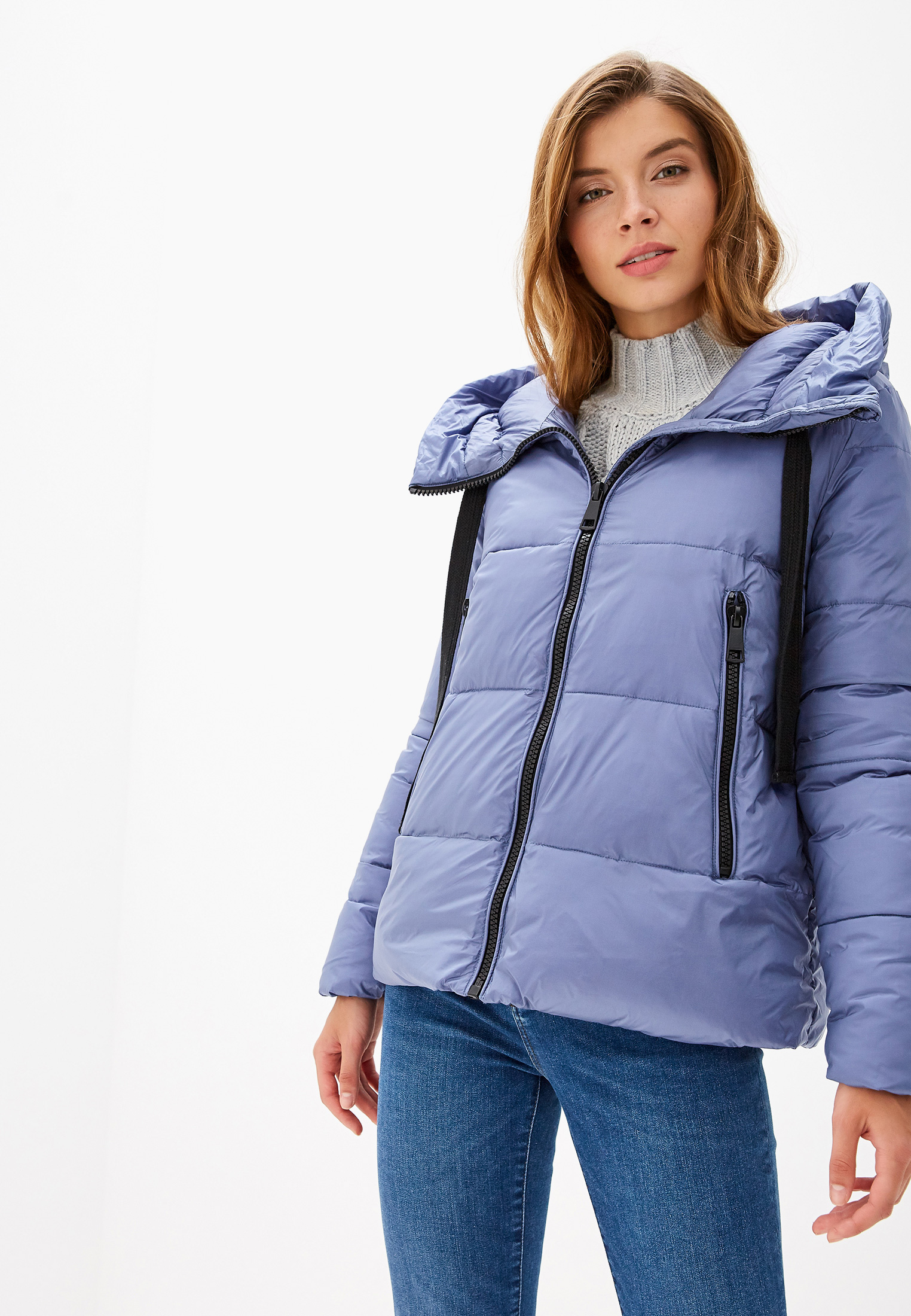 Куртка утепленная, Savage, цвет: голубой. Артикул: SA004EWGESE7. Одежда / Верхняя одежда / Пуховики и зимние куртки
