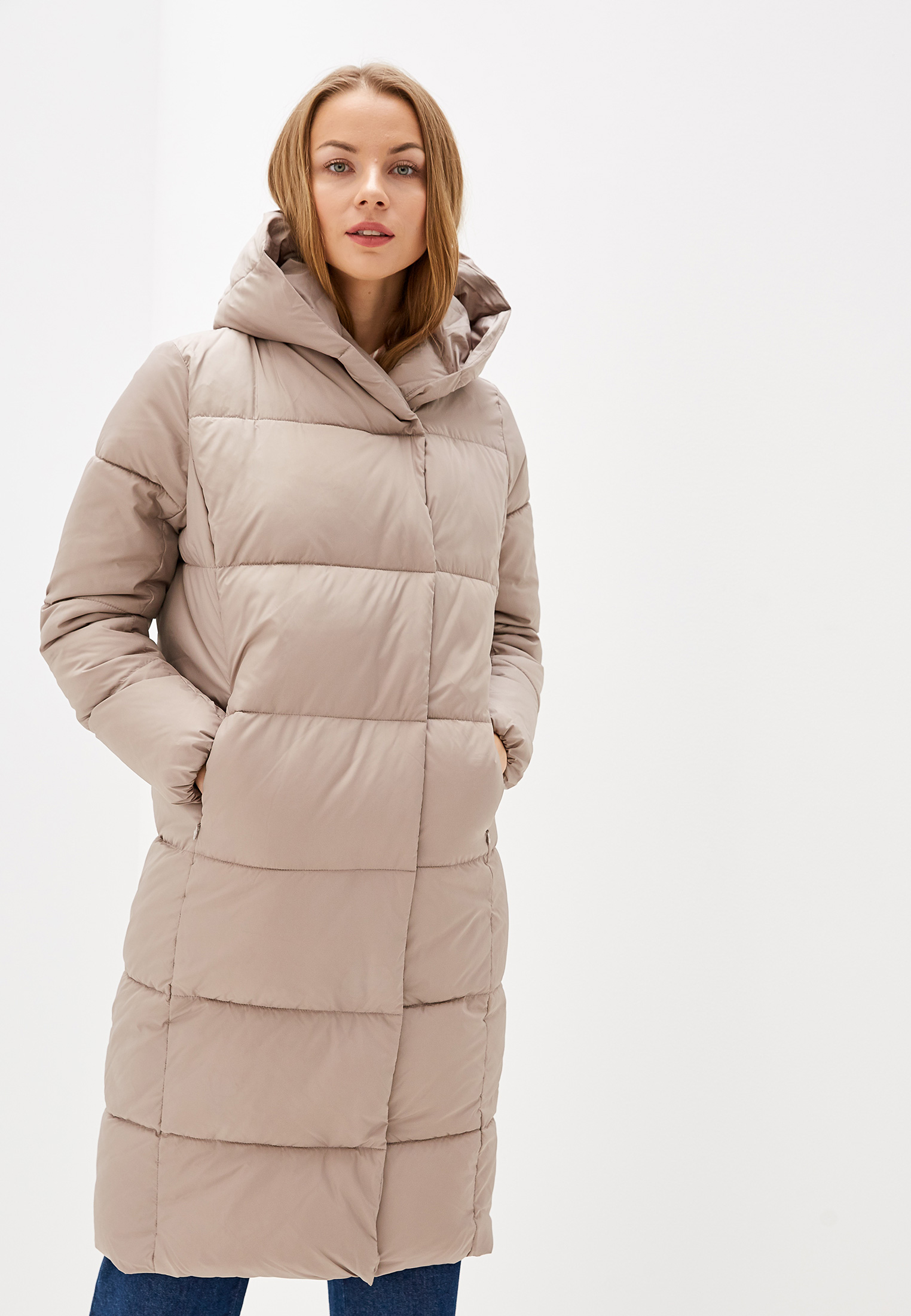 Куртка утепленная, Savage, цвет: бежевый. Артикул: SA004EWGESF2. Одежда / Верхняя одежда / Пуховики и зимние куртки