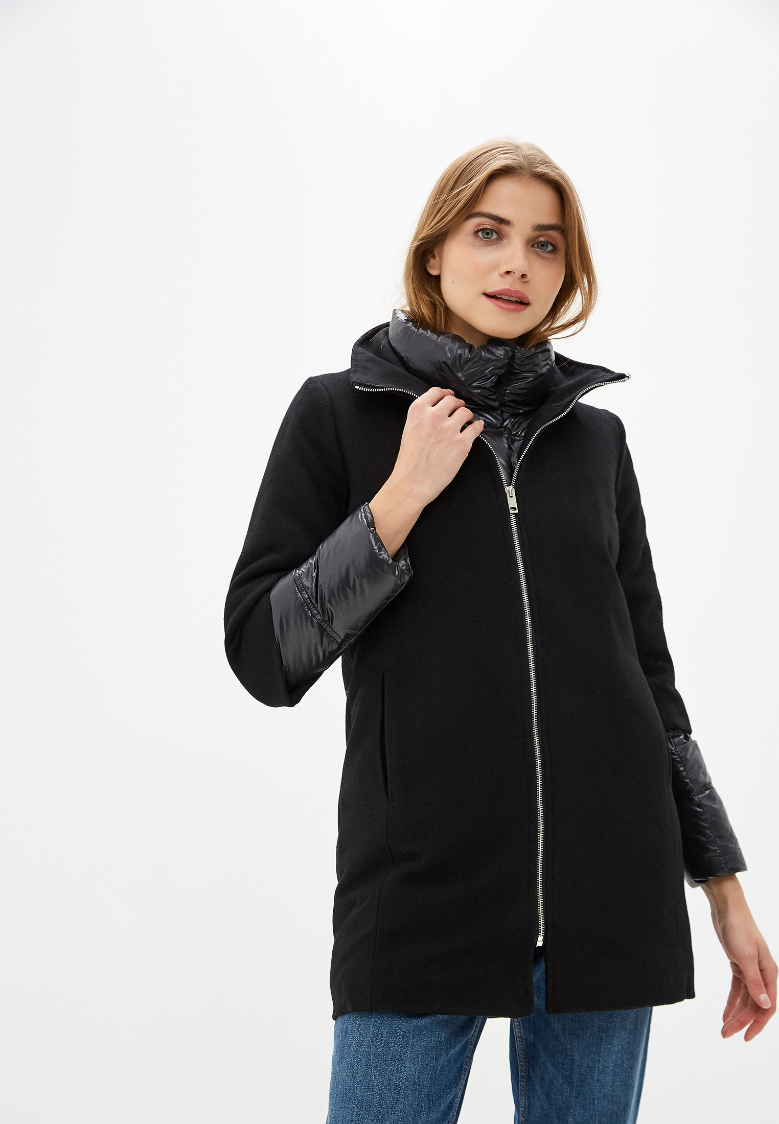 Пуховик, Savage, цвет: черный. Артикул: SA004EWGESF4. Одежда / Верхняя одежда / Пуховики и зимние куртки