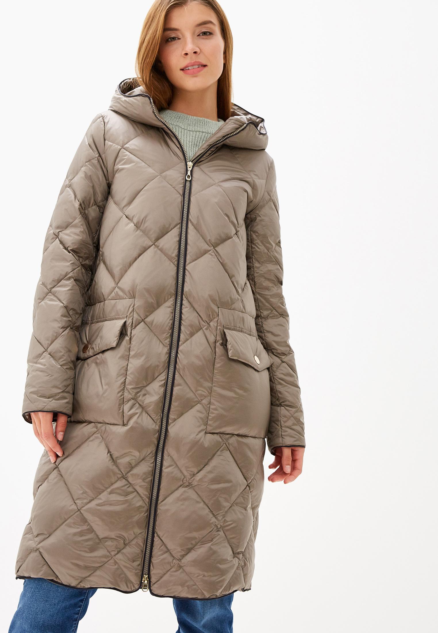 Пуховик, Savage, цвет: коричневый. Артикул: SA004EWGNTW2. Одежда / Верхняя одежда / Пуховики и зимние куртки