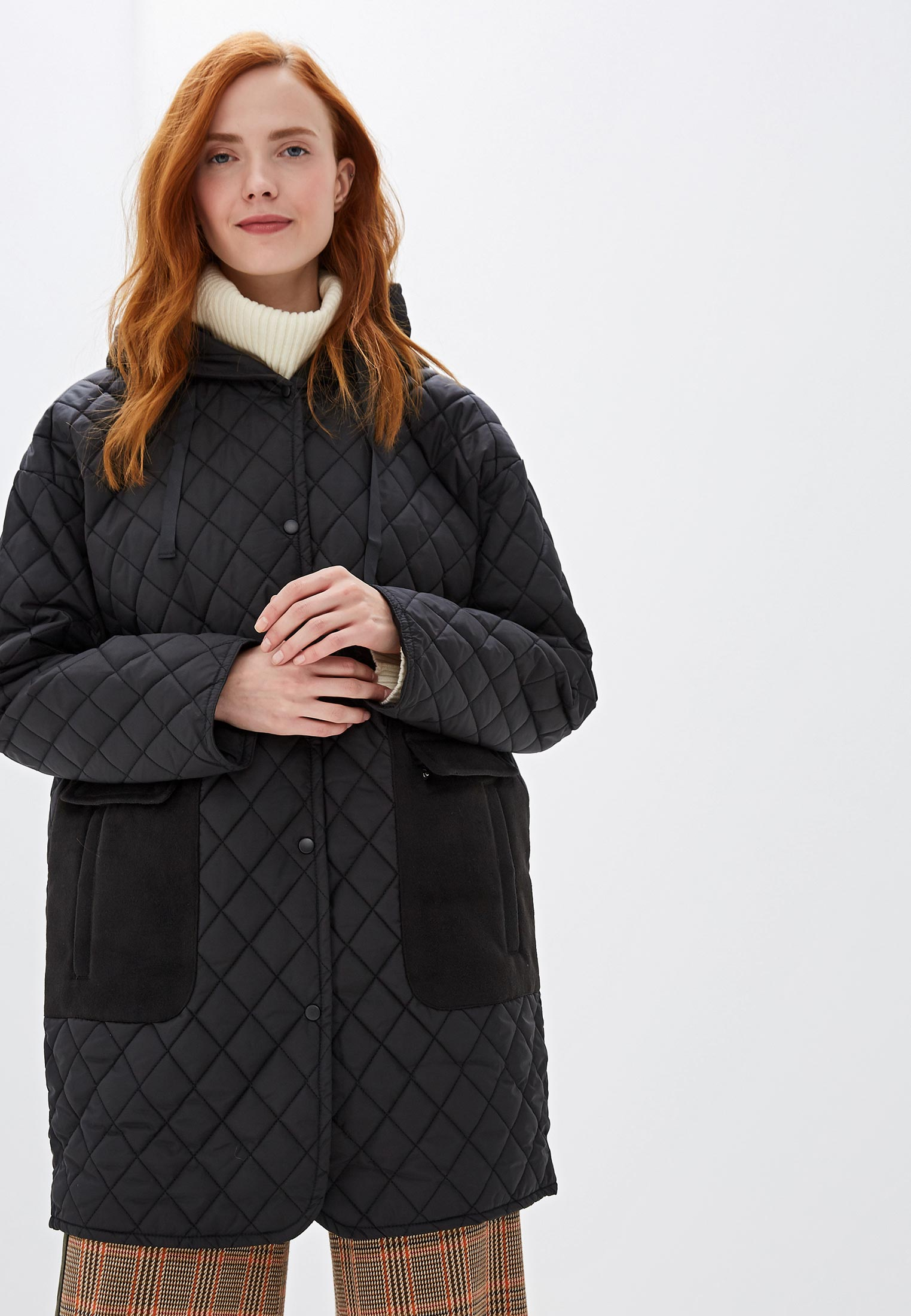 Куртка утепленная, Sela, цвет: черный. Артикул: SE001EWGAKX9. Одежда / Верхняя одежда