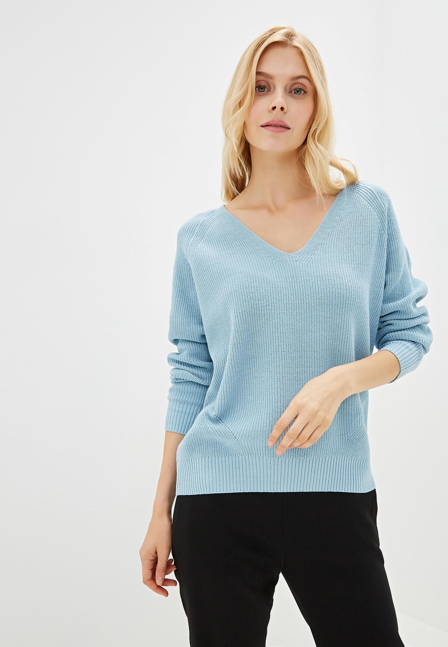 Пуловер, Sela, цвет: голубой. Артикул: SE001EWGALC1. Одежда / Джемперы, свитеры и кардиганы
