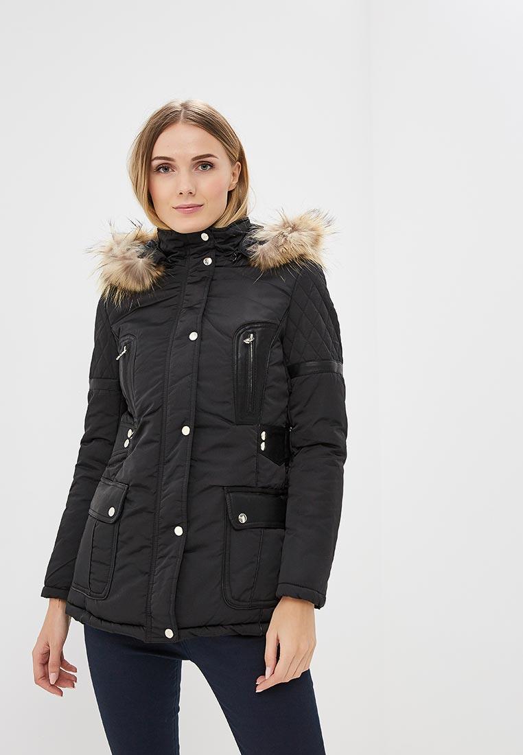 Куртка утепленная, Softy, цвет: черный. Артикул: SO017EWMYK49. Одежда / Верхняя одежда