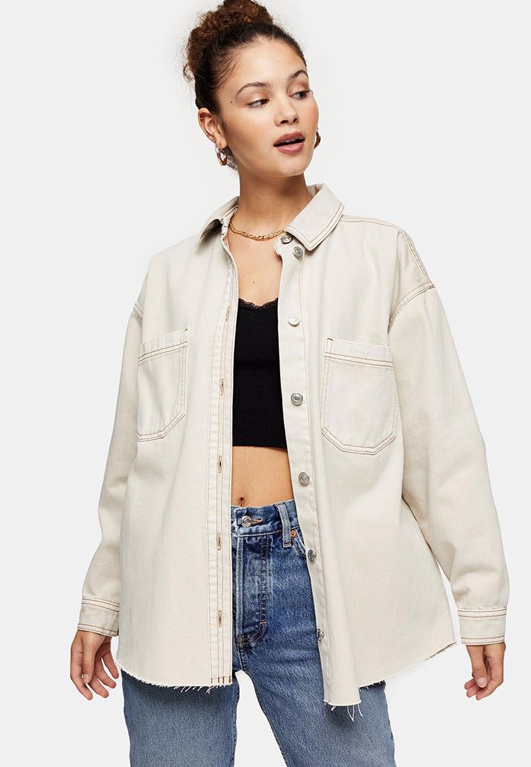 Рубашка джинсовая Topshop  за 3 519 ₽. в интернет-магазине Lamoda.ru