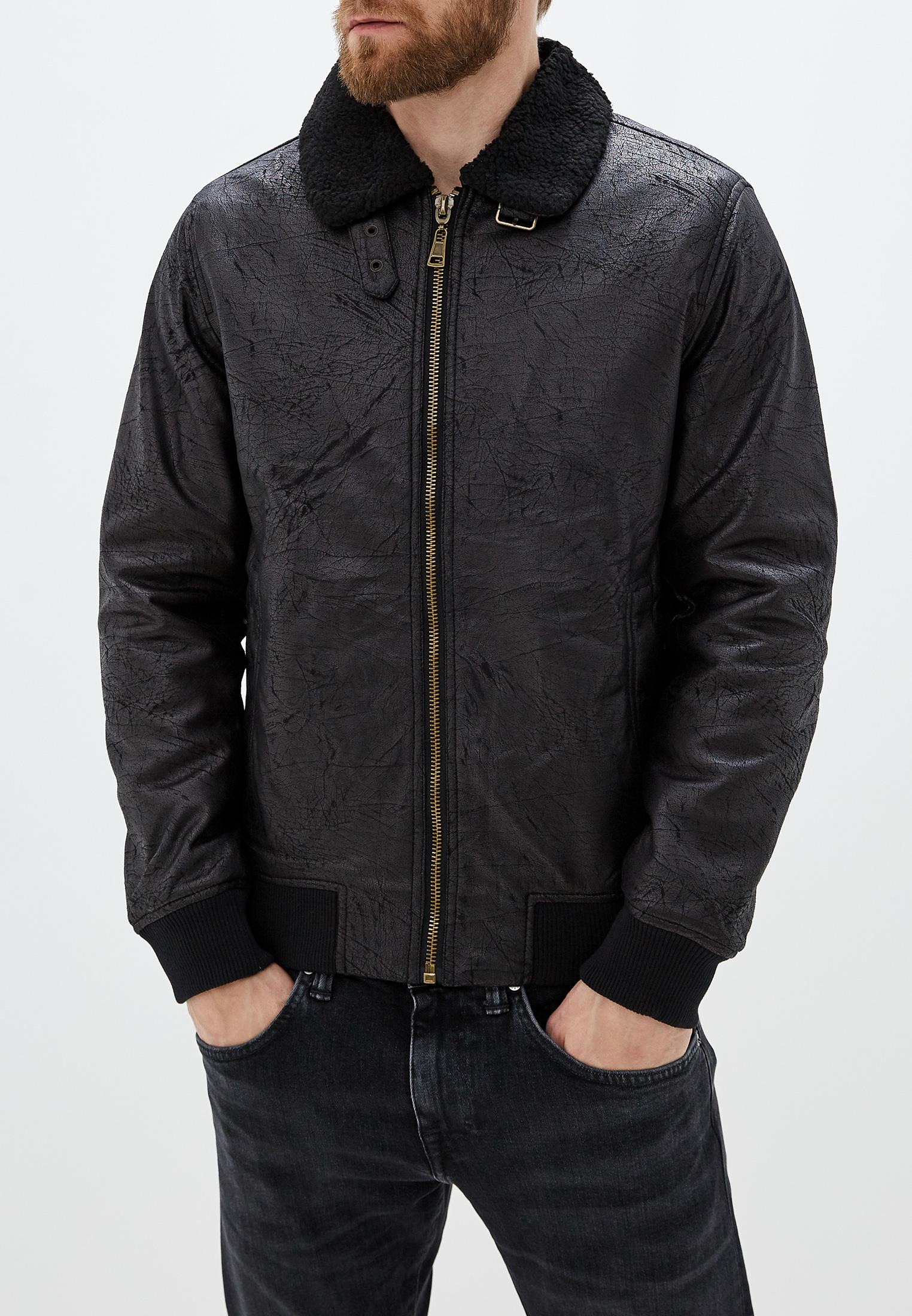 Куртка кожаная, Tony Backer, цвет: черный. Артикул: TO043EMHDSC1. Одежда / Верхняя одежда / Кожаные куртки