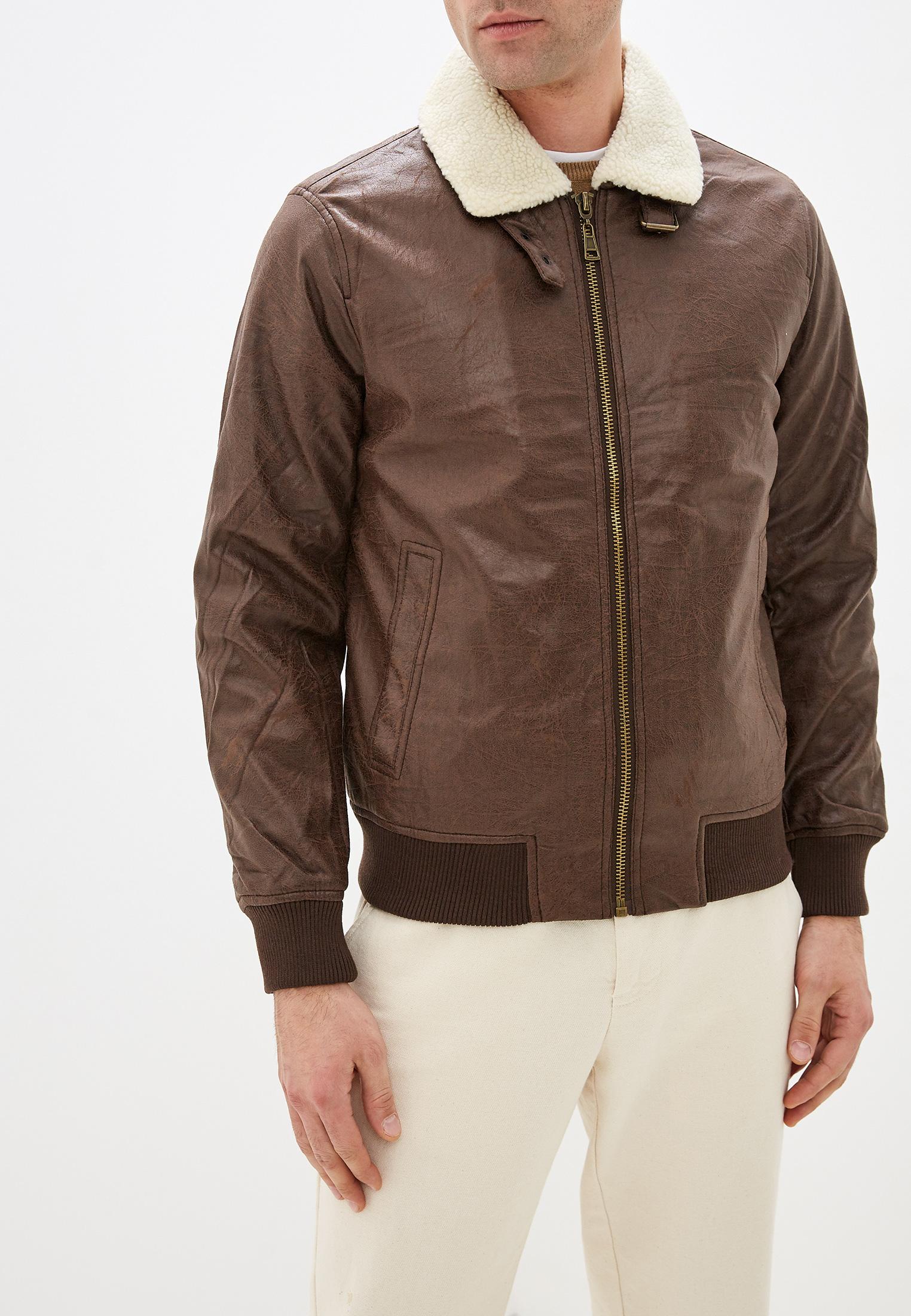 Куртка кожаная, Tony Backer, цвет: коричневый. Артикул: TO043EMHDSC2. Одежда / Верхняя одежда / Кожаные куртки