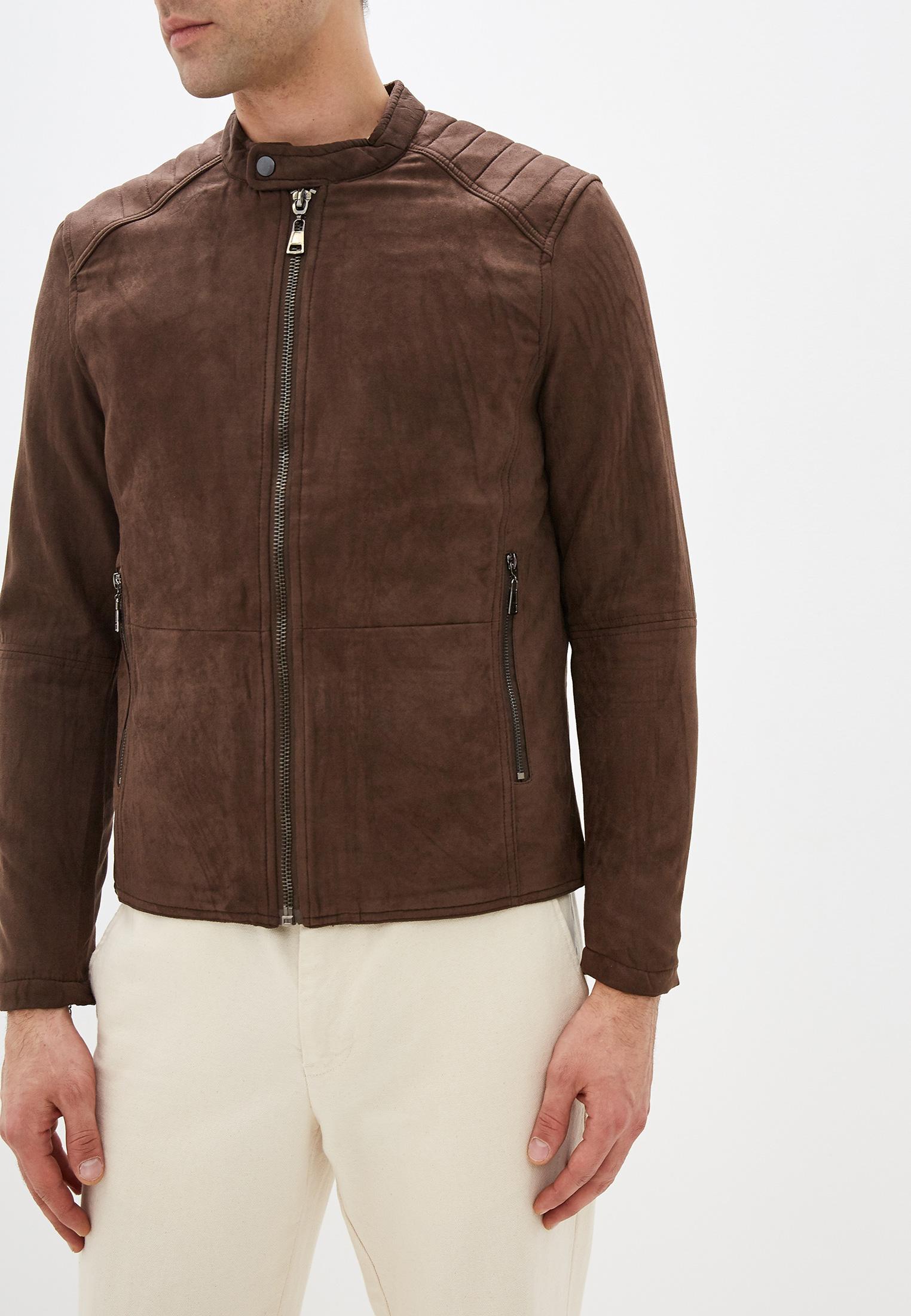 Куртка кожаная, Tony Backer, цвет: коричневый. Артикул: TO043EMHDSC5. Одежда / Верхняя одежда / Кожаные куртки
